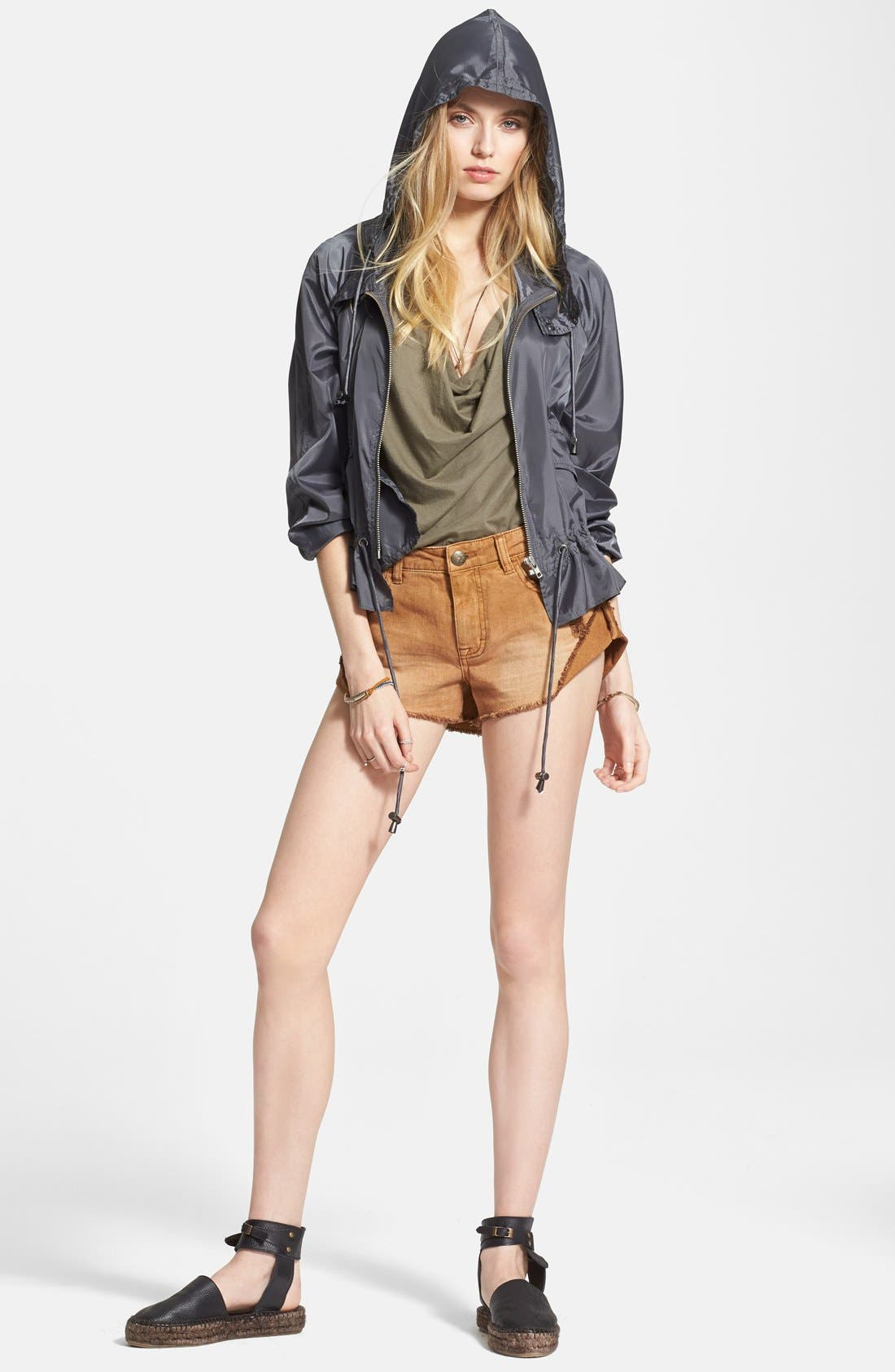 FREE PEOPLE, Ripstop Tech Jacket, Alternate thumbnail 4, color, 020