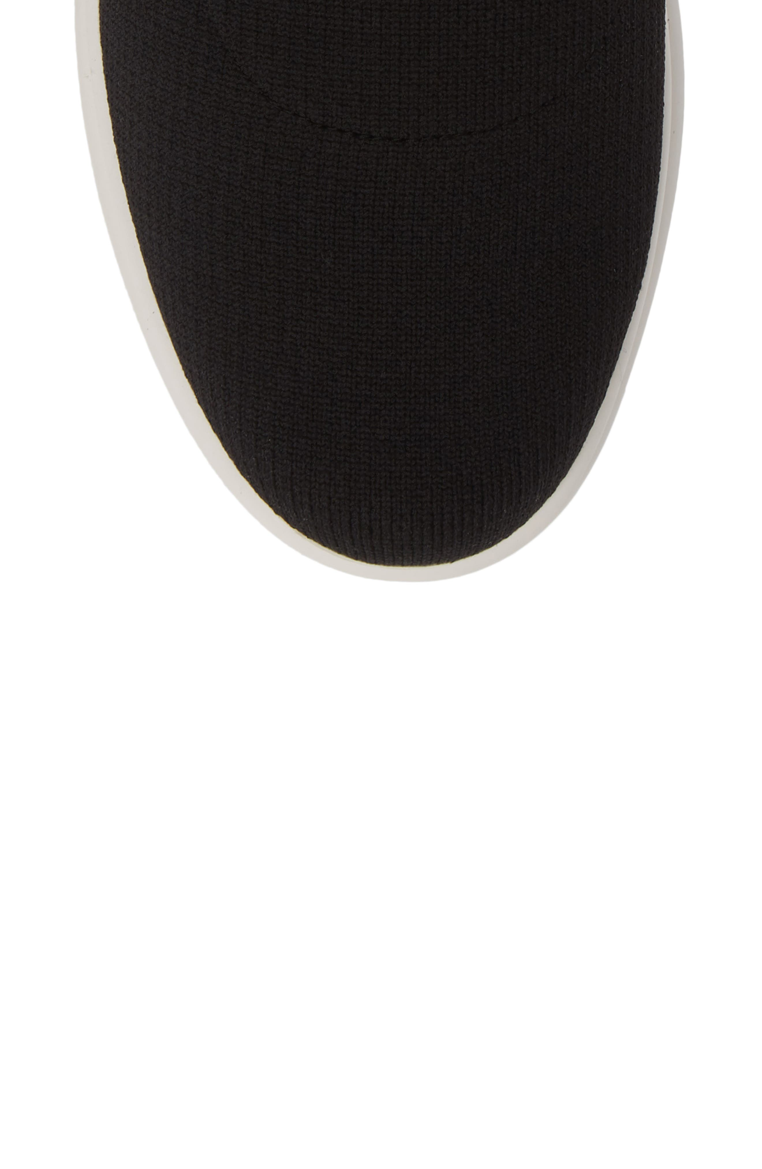 LINEA PAOLO, Gale Sneaker, Alternate thumbnail 5, color, BLACK KNIT FABRIC