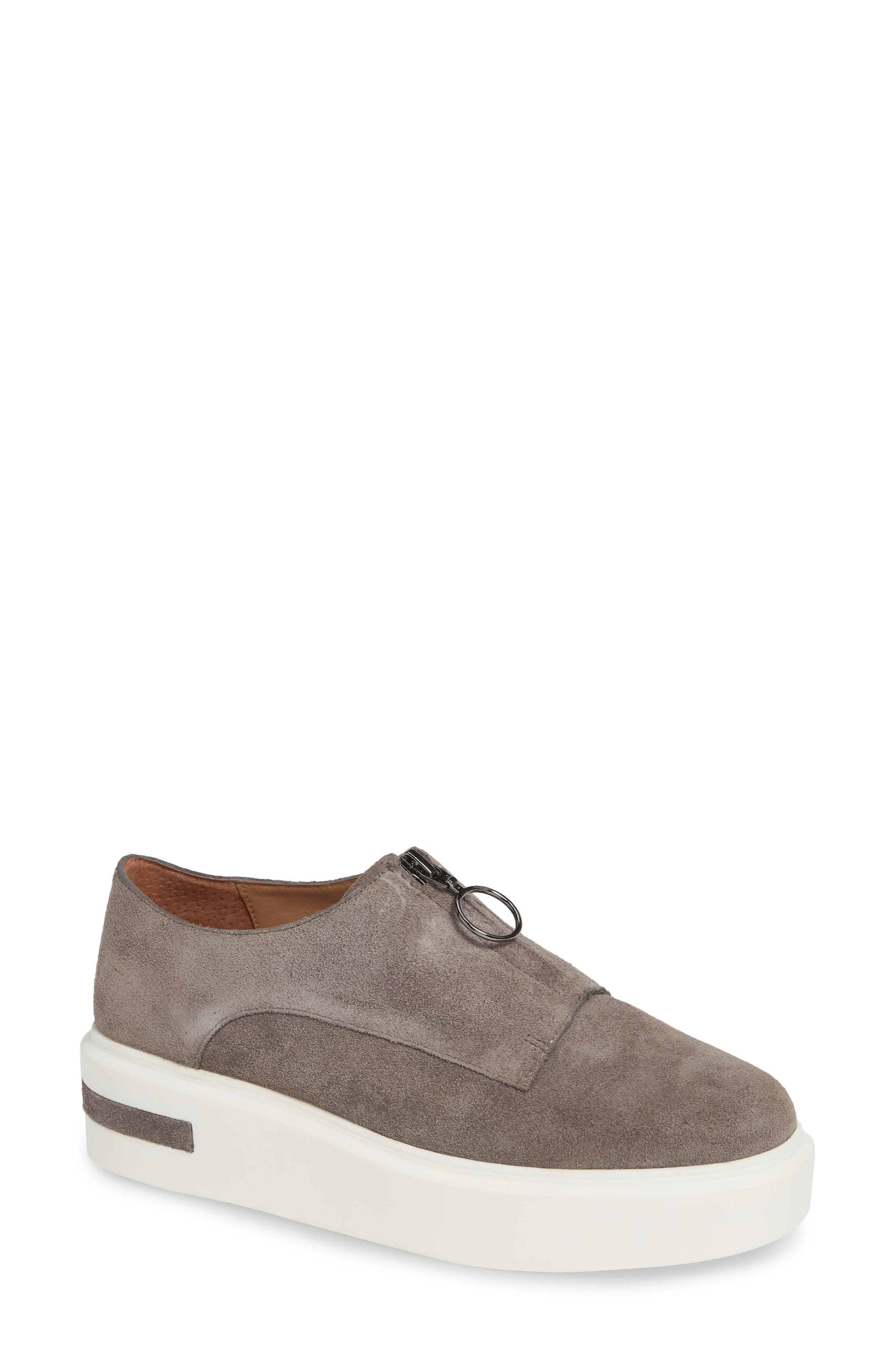 LINEA PAOLO, Kelani Platform Sneaker, Main thumbnail 1, color, STONE SUEDE