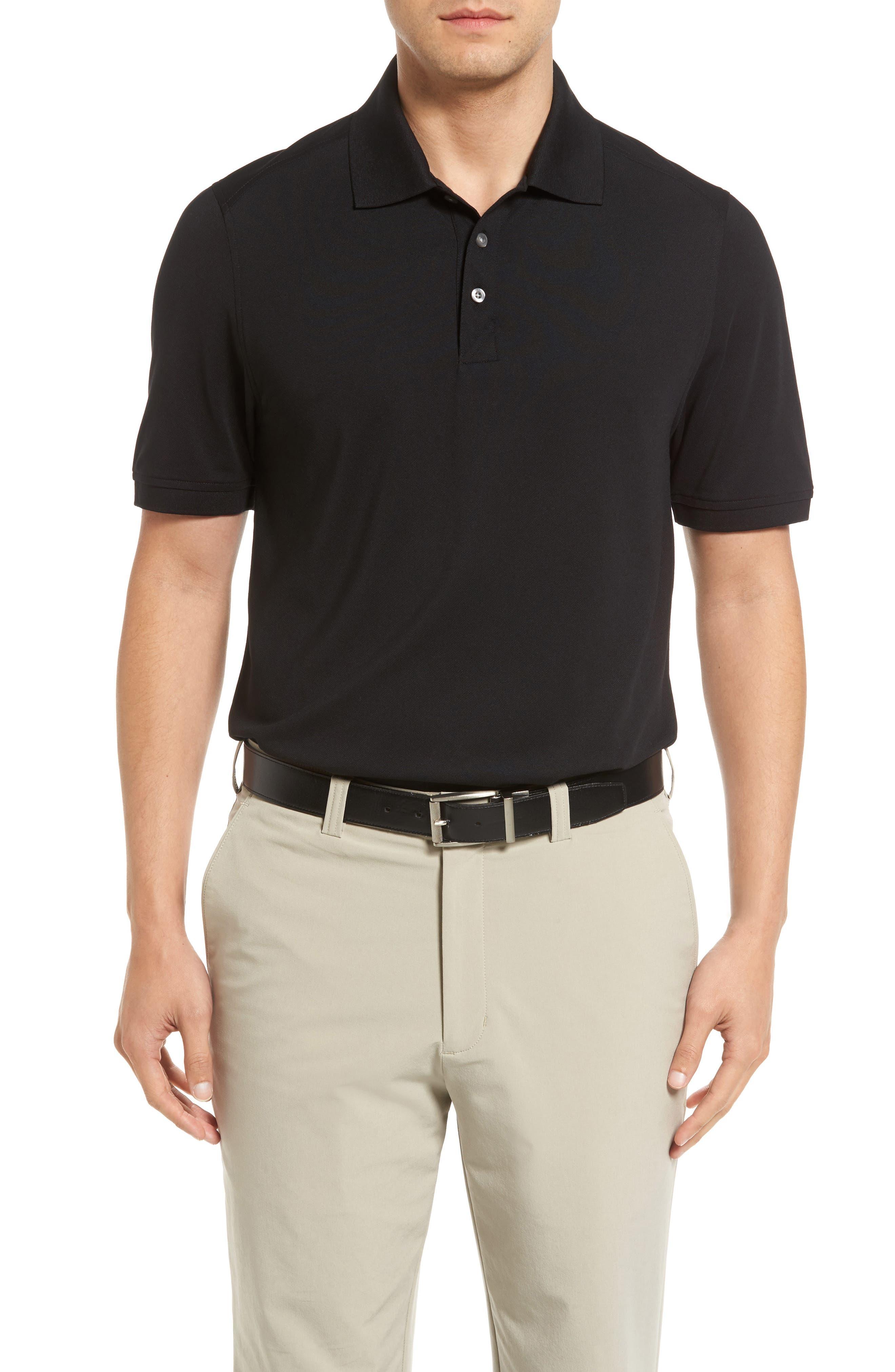CUTTER & BUCK Advantage Golf Polo, Main, color, BLACK