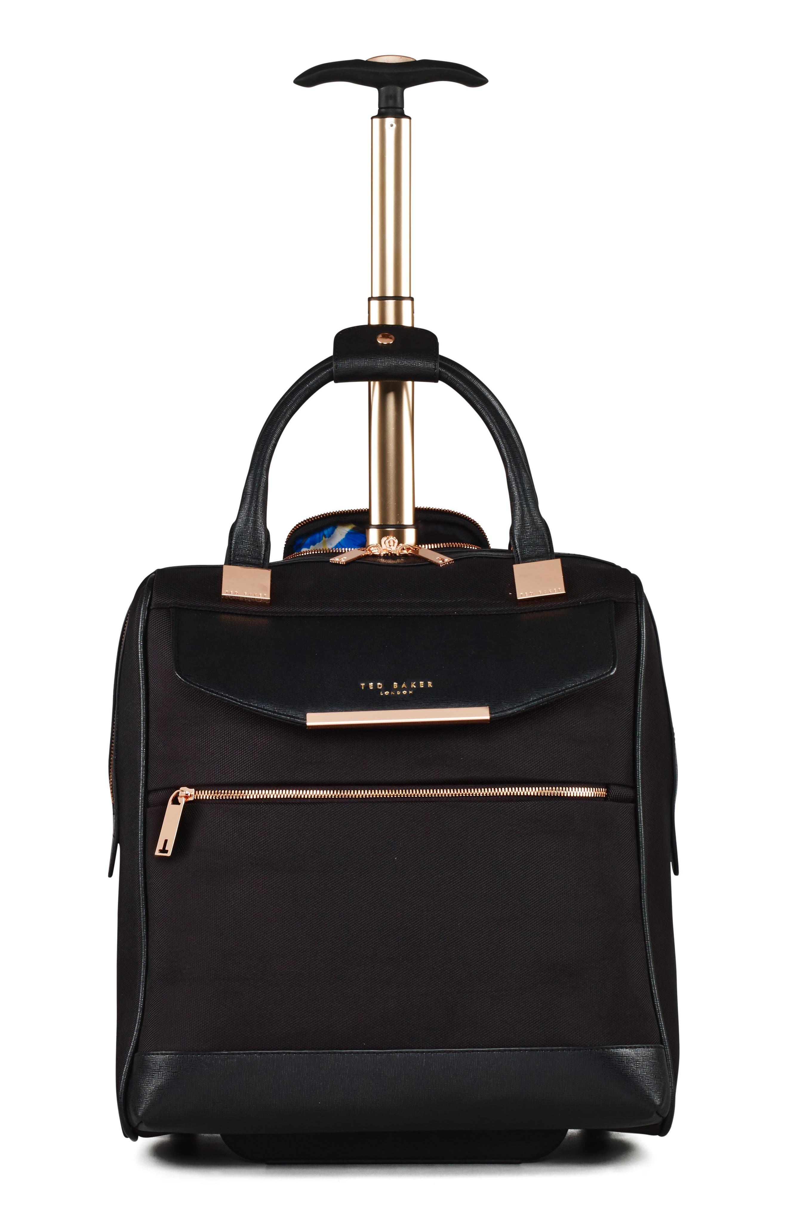 TED BAKER LONDON, 16-Inch Trolley Packing Case, Main thumbnail 1, color, BLACK