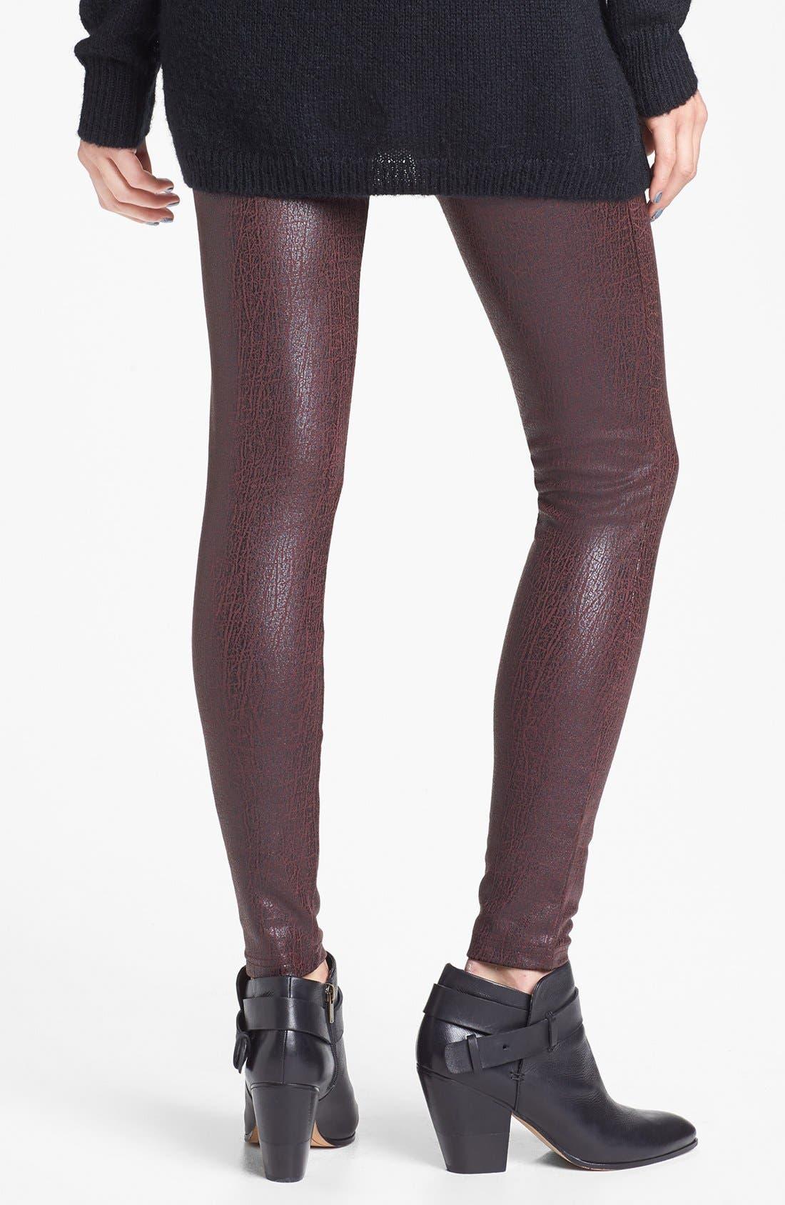 BP., Crackled Faux Leather Leggings, Alternate thumbnail 2, color, 600