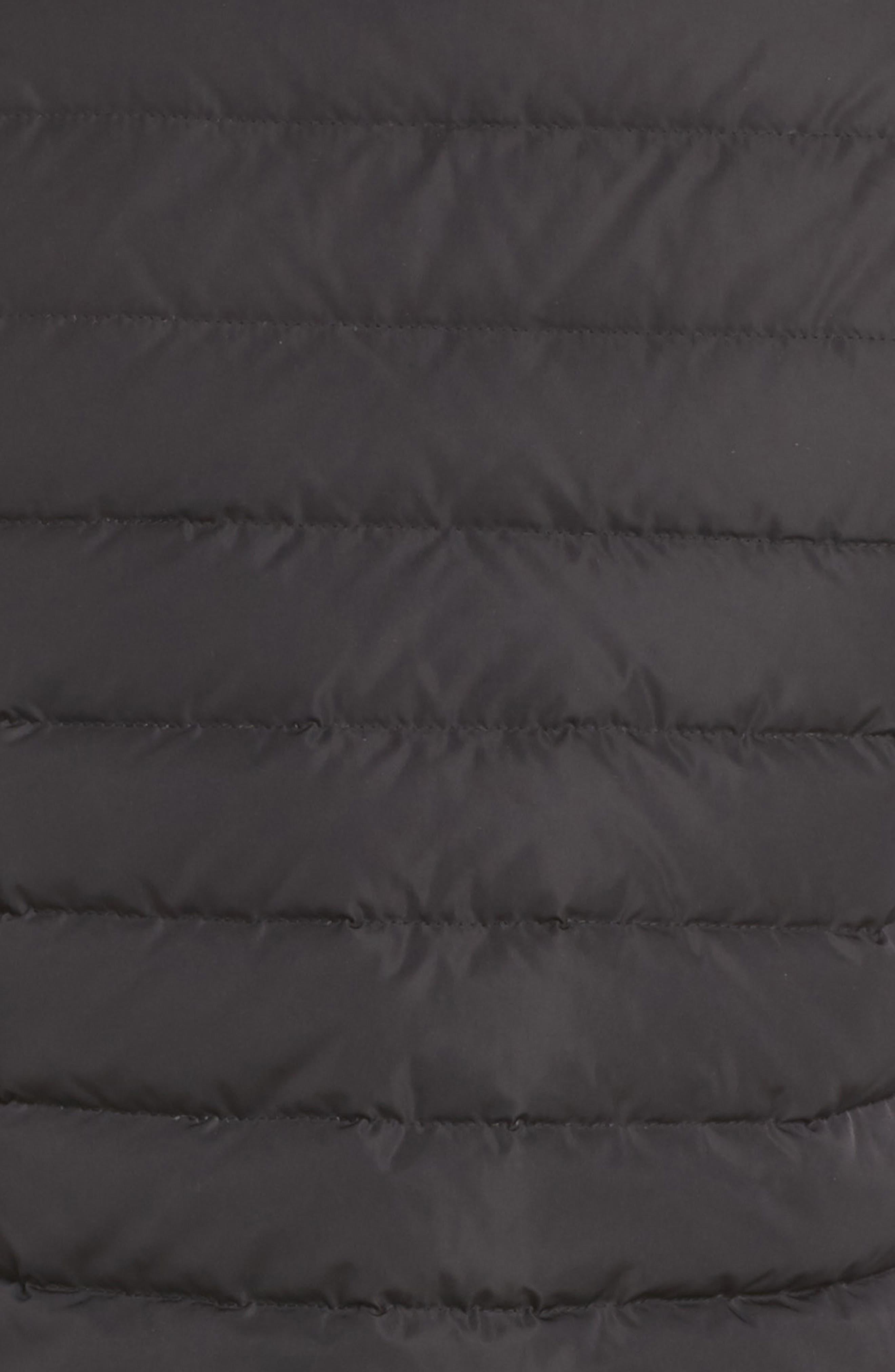 BLANC NOIR, Moto Aviator Puffer Jacket, Alternate thumbnail 7, color, 001