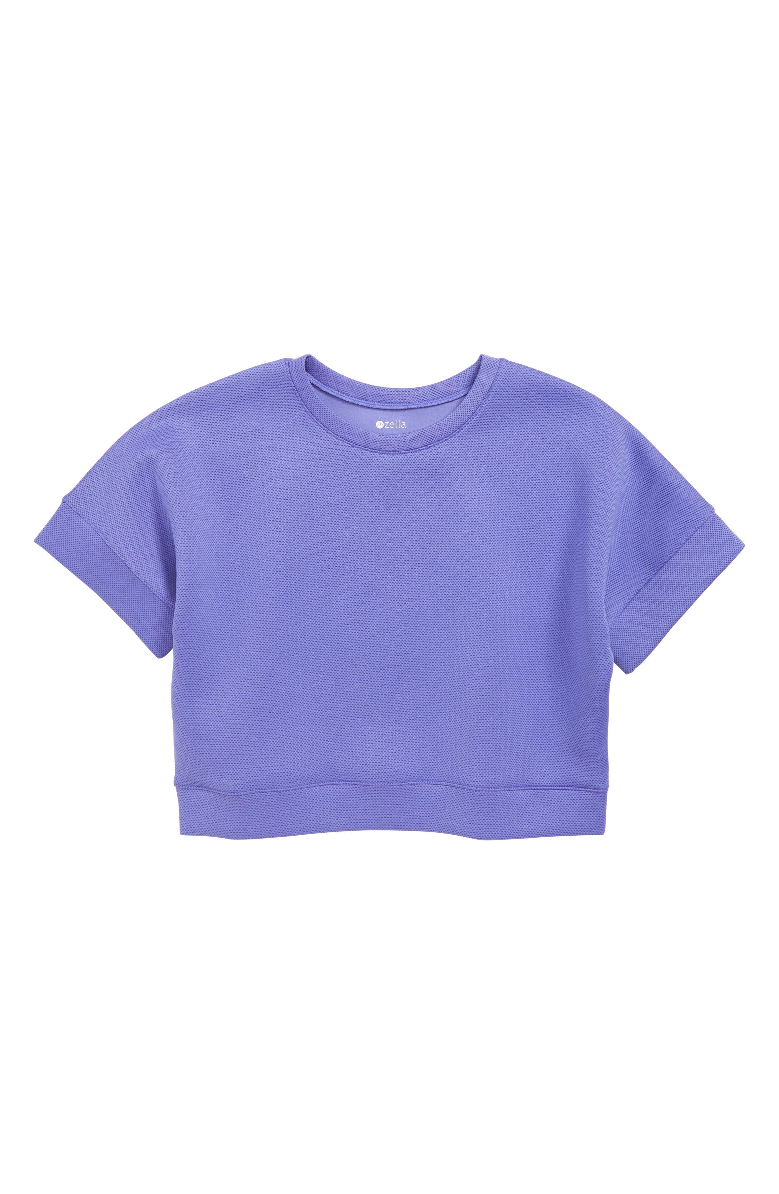 ZELLA GIRL Spacer Pullover, Main, color, PURPLE BAJA