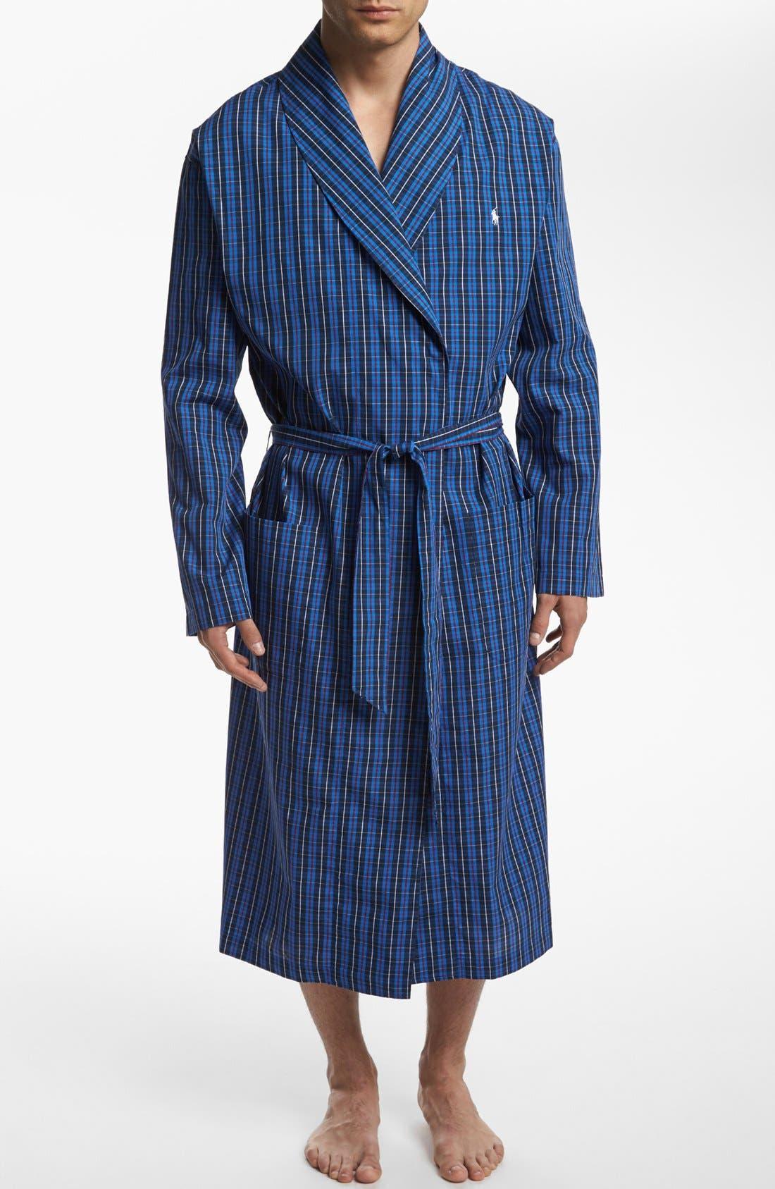 POLO RALPH LAUREN, Woven Robe, Main thumbnail 1, color, HARWICH PLAID