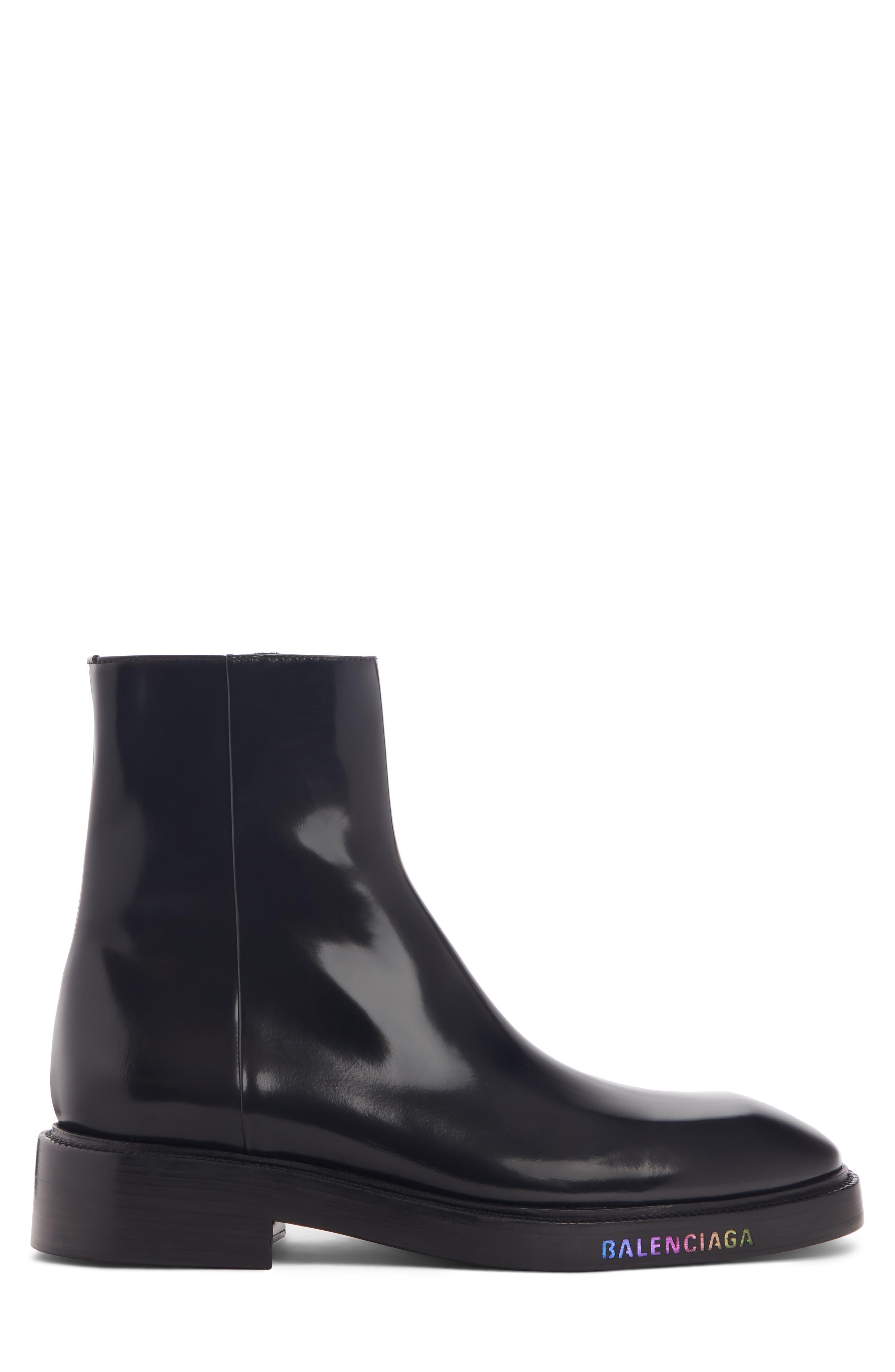 BALENCIAGA, LED Curve Light-Up Boot, Alternate thumbnail 3, color, BLACK