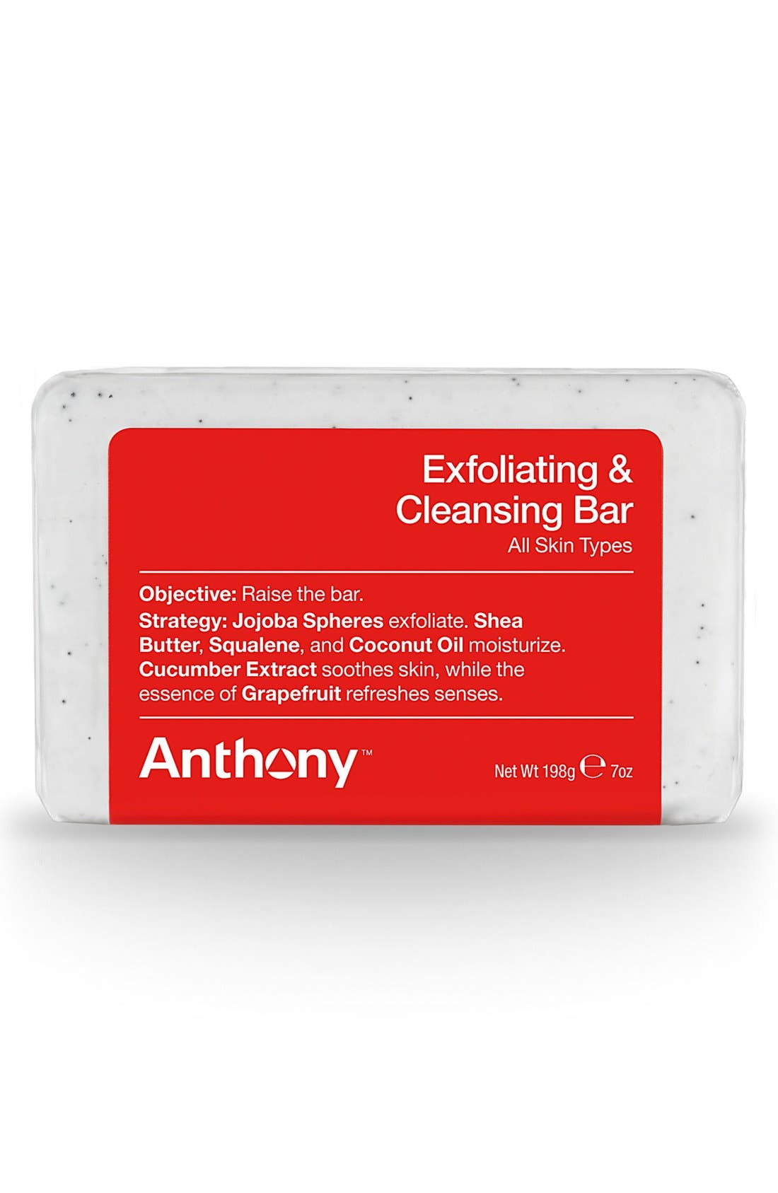 ANTHONY,  Exfoliating + Cleansing Bar, Main thumbnail 1, color, NO COLOR
