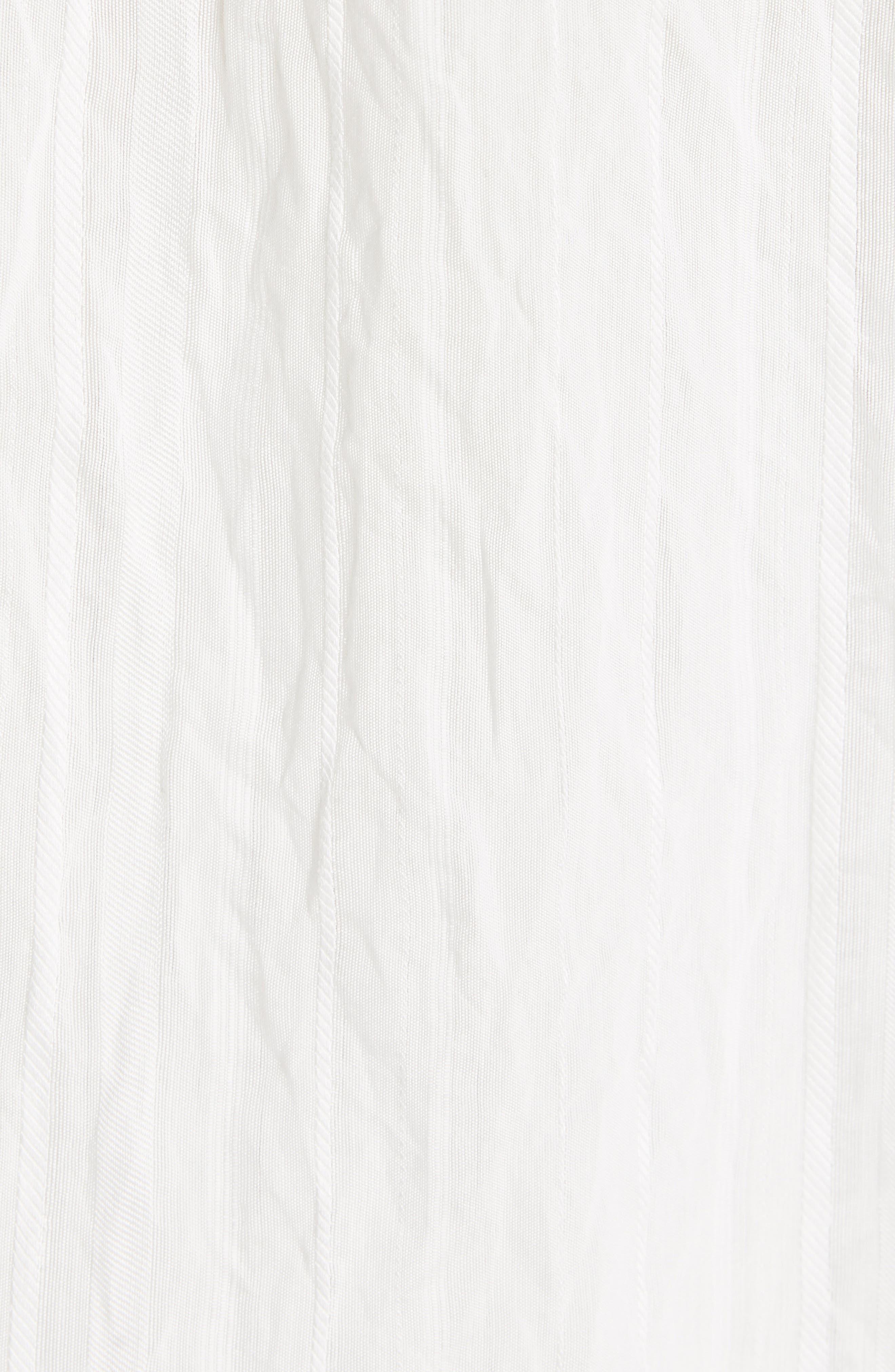VINCE, Stripe Drop Sleeve Shirt, Alternate thumbnail 5, color, OPTIC WHITE