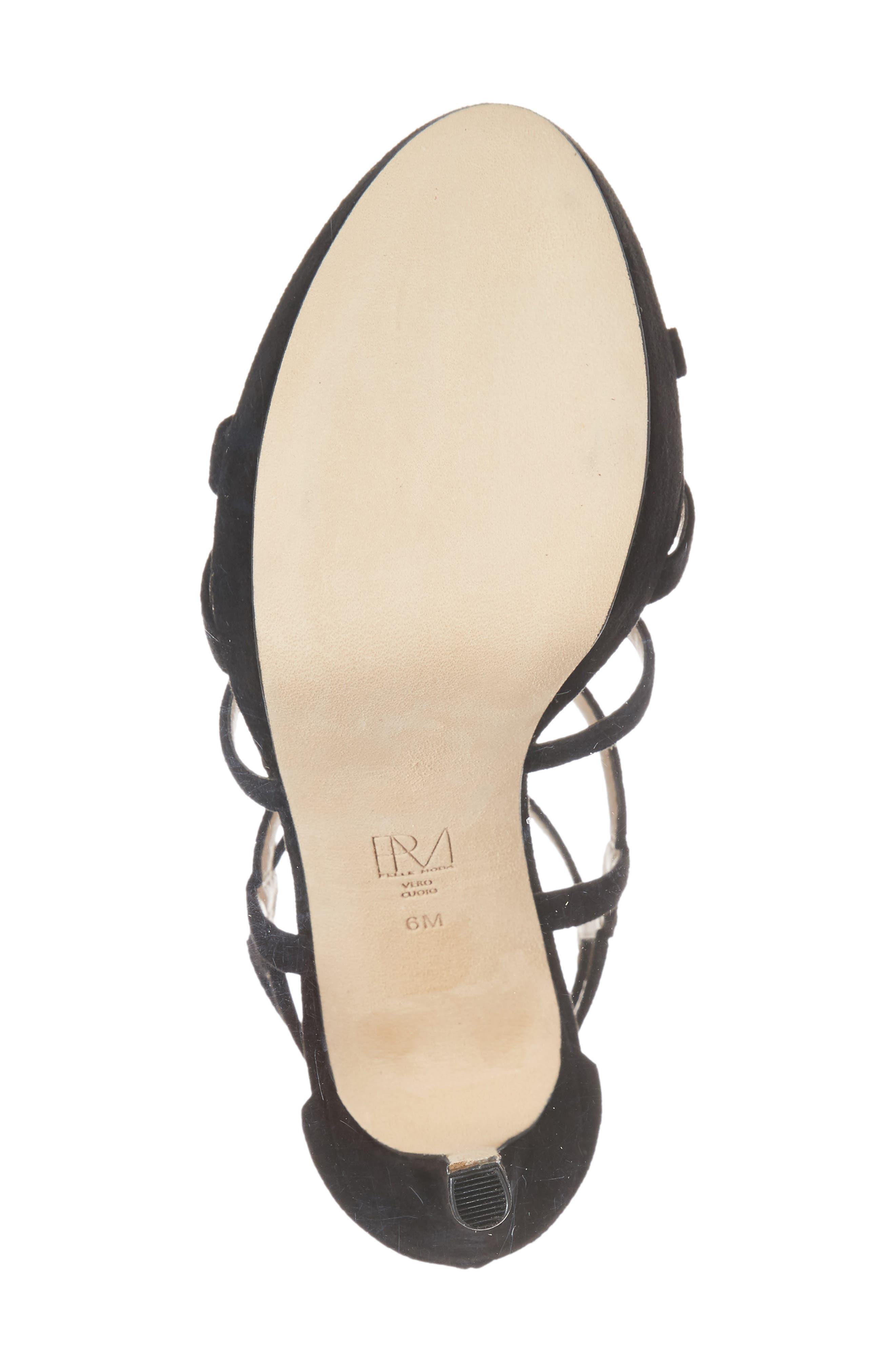 PELLE MODA, Olympic Platform Sandal, Alternate thumbnail 6, color, 001