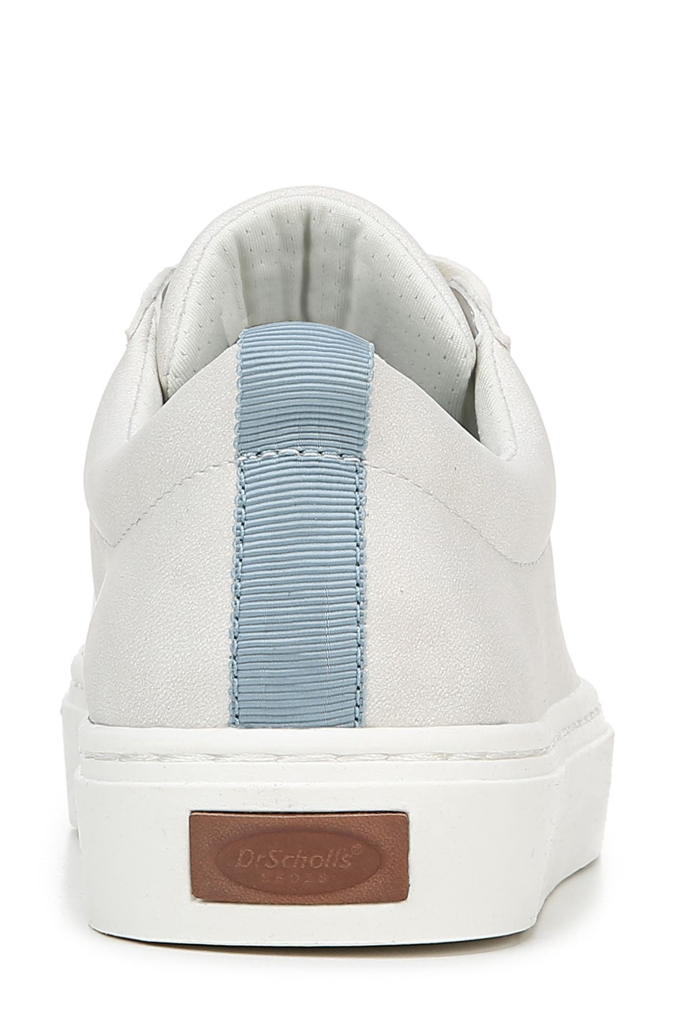 DR. SCHOLL'S, No Bad Vibes Sneaker, Alternate thumbnail 6, color, WHITE FAUX LEATHER