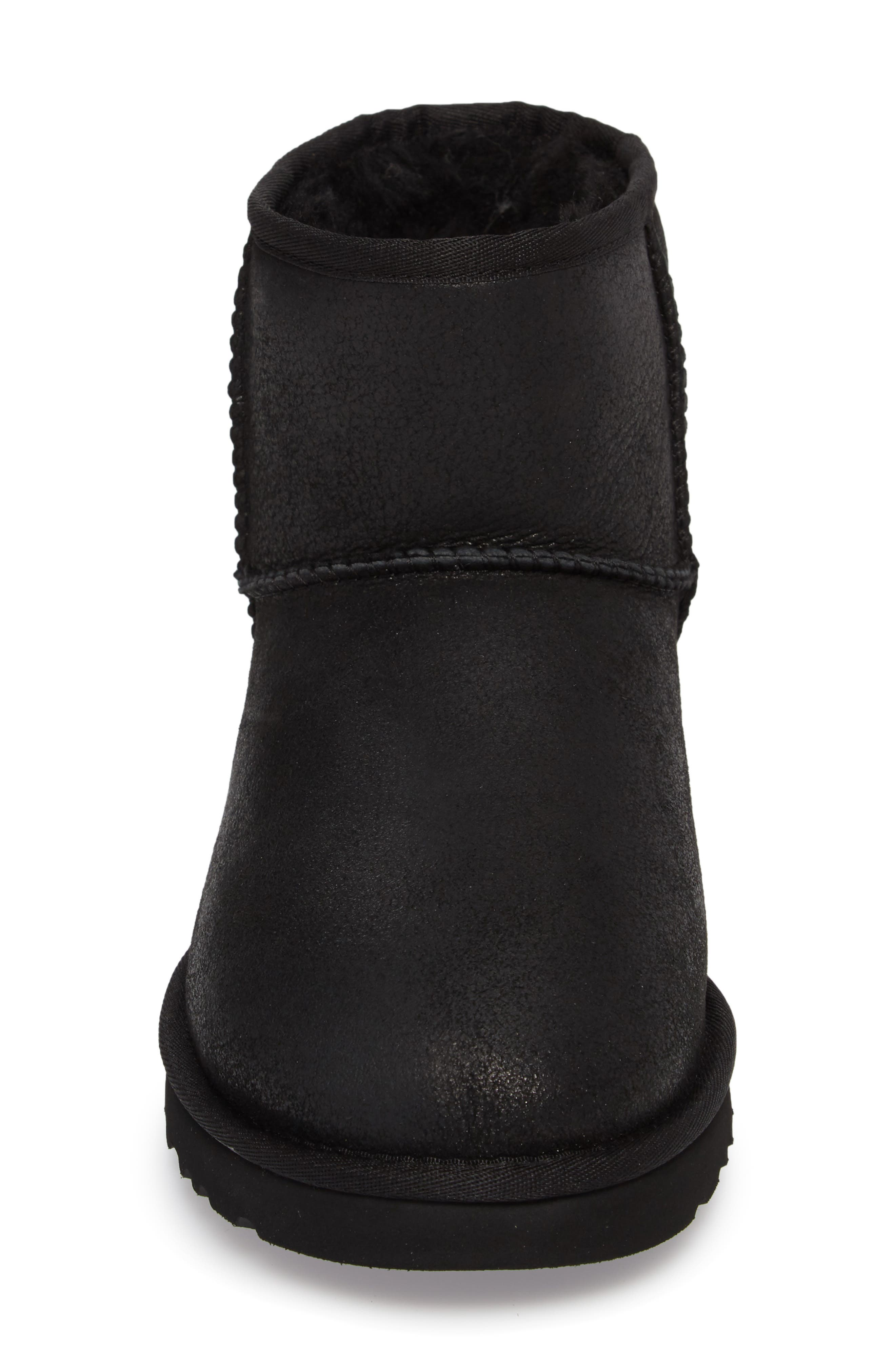 UGG<SUP>®</SUP>, Classic Mini Bomber Boot with Genuine Shearling or UGGpure<sup>™</sup> Lining, Alternate thumbnail 4, color, BOMBER JACKET BLACK