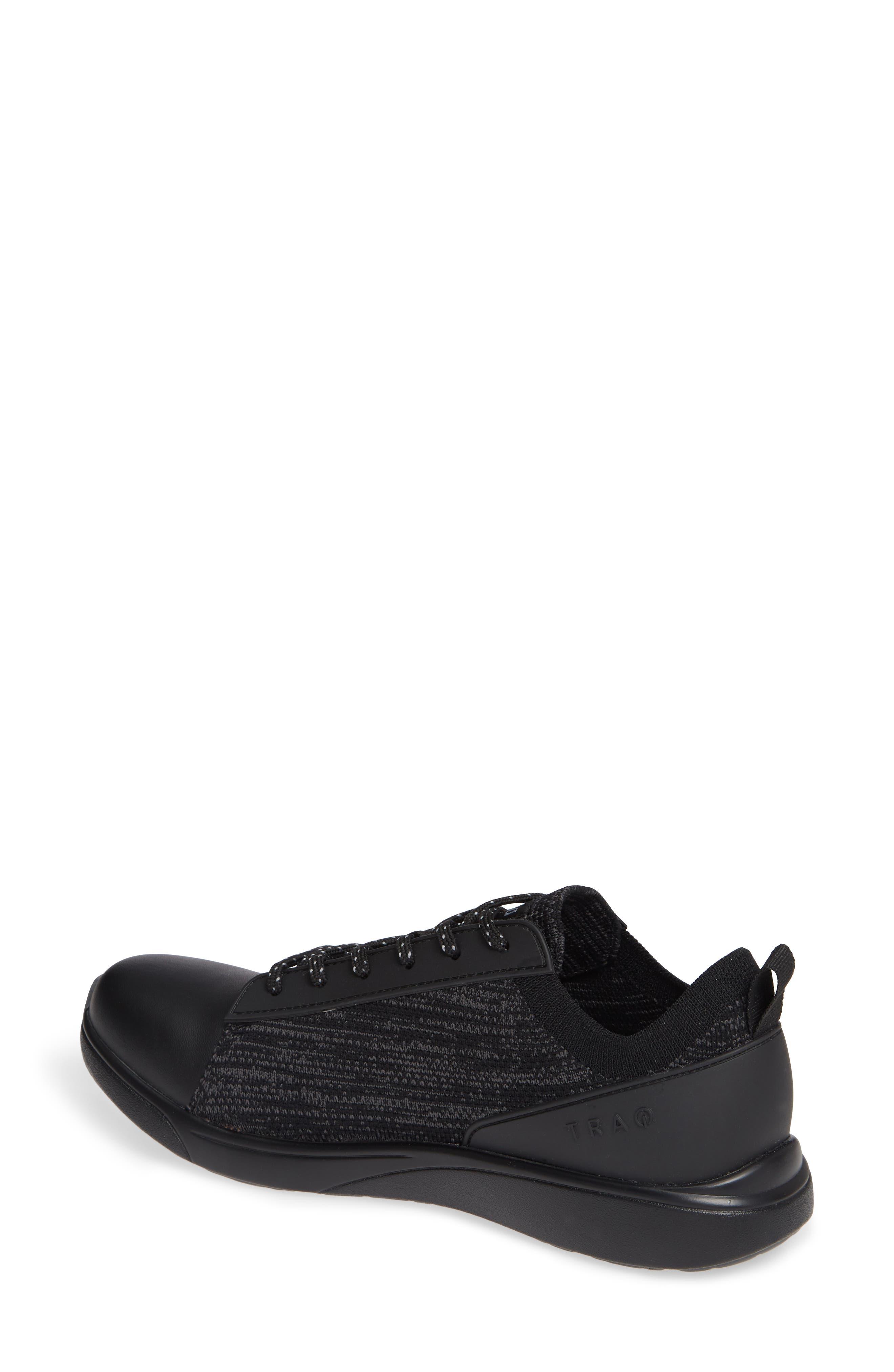 ALEGRIA, Qest Sneaker, Alternate thumbnail 2, color, BLACK LEATHER
