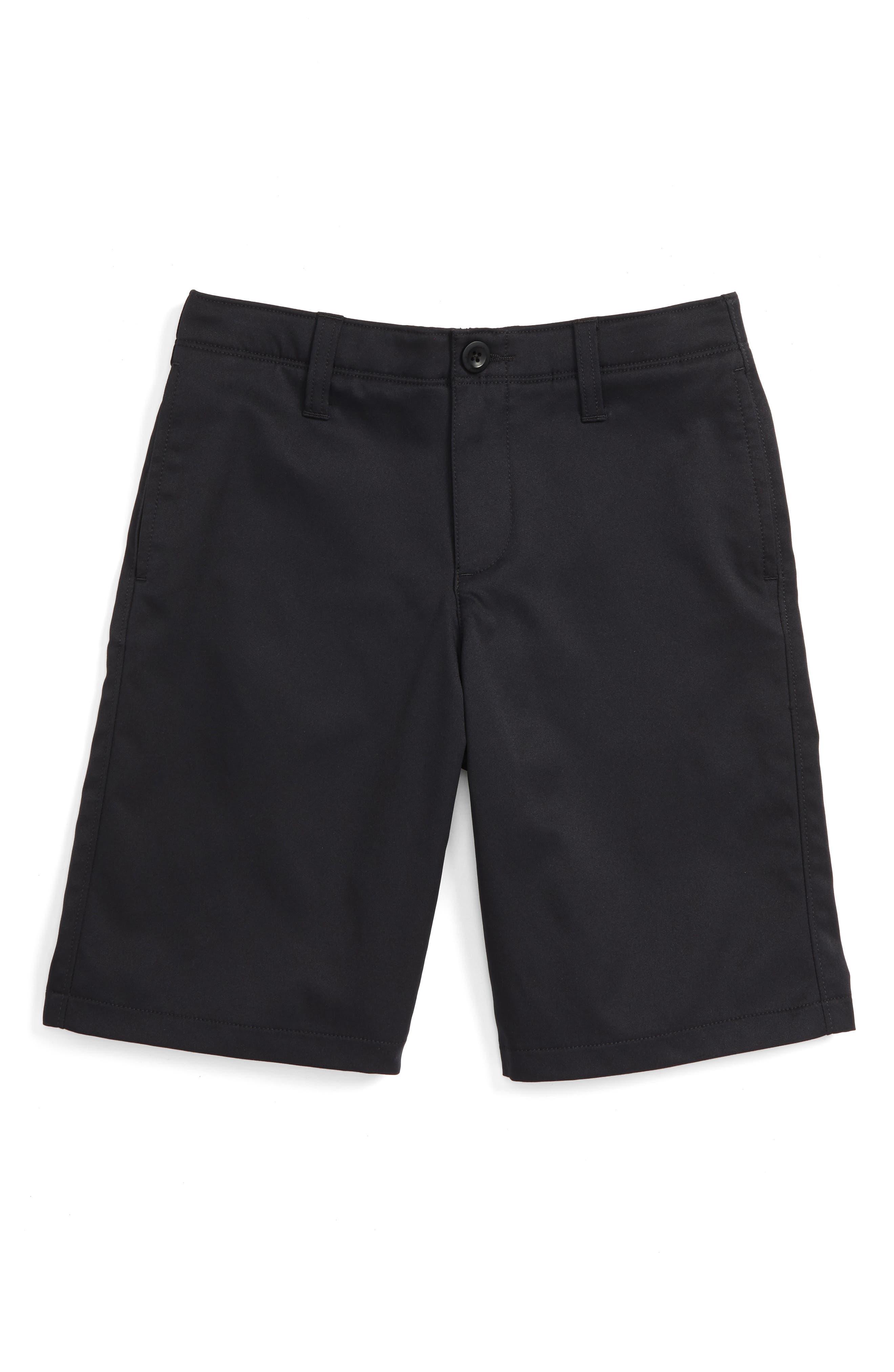 UNDER ARMOUR, Match Play Shorts, Main thumbnail 1, color, BLACK