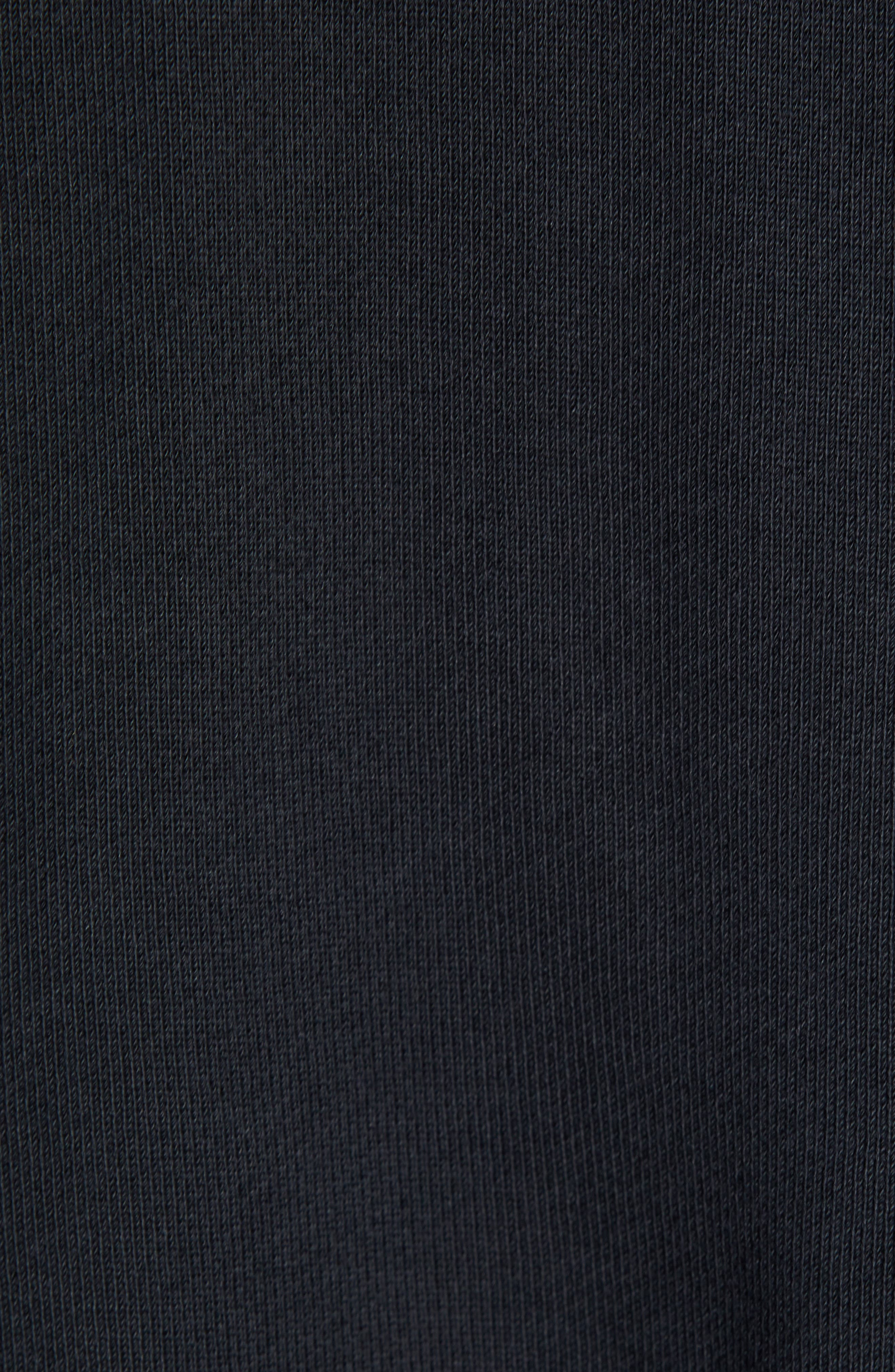 NIKE, Sportswear NSW Men's French Terry Hoodie, Alternate thumbnail 5, color, BLACK/ WHITE