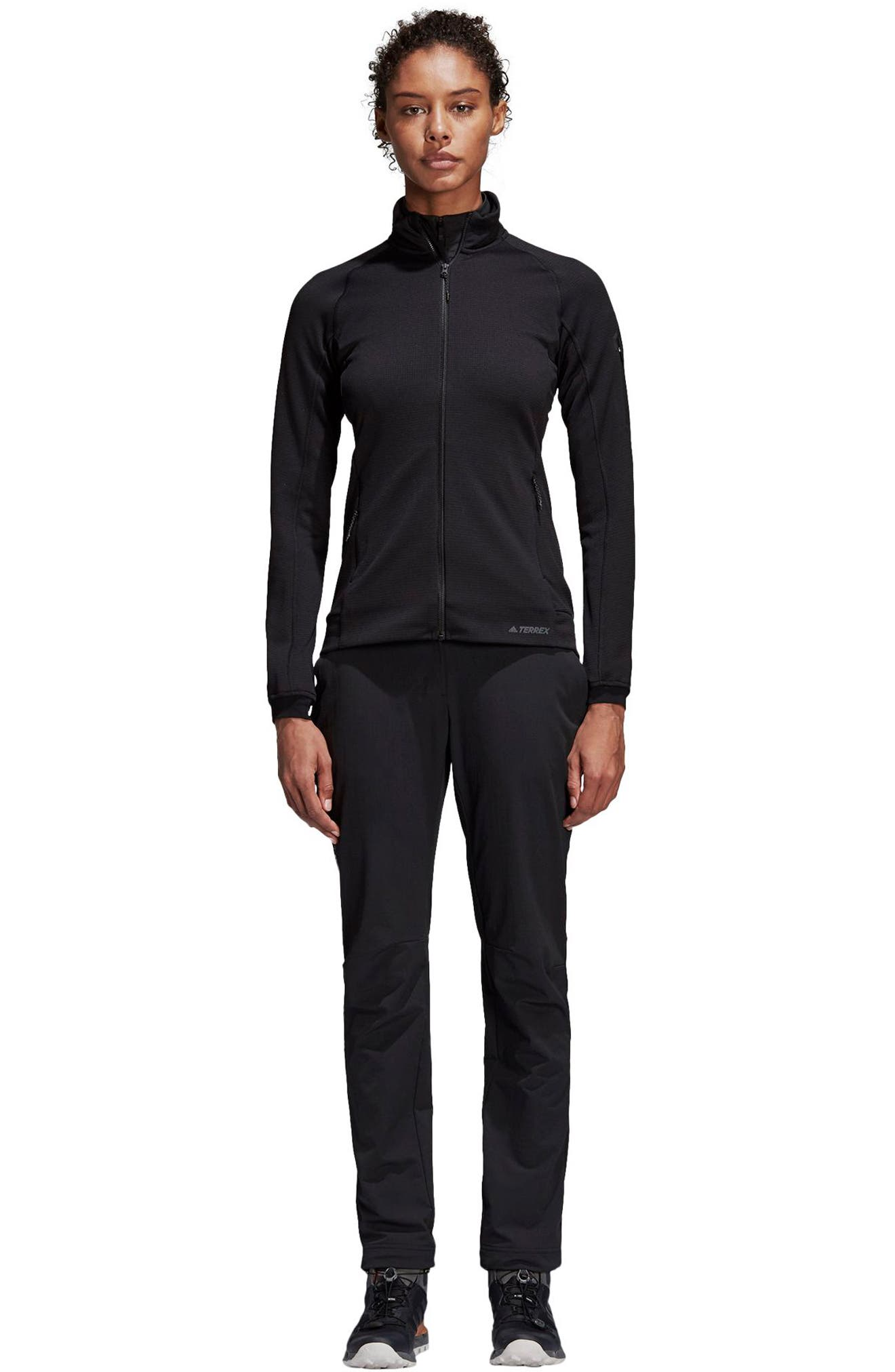 ADIDAS, Stockhorn Fleece Jacket, Alternate thumbnail 9, color, BLACK