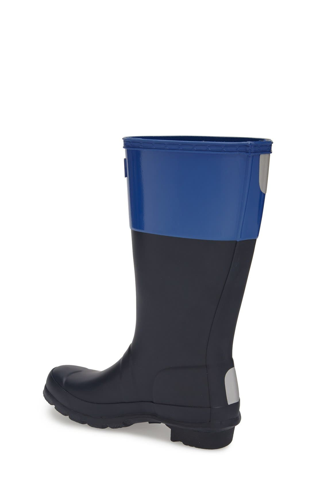 HUNTER, 'Original Tonal' Rain Boot, Alternate thumbnail 4, color, 410