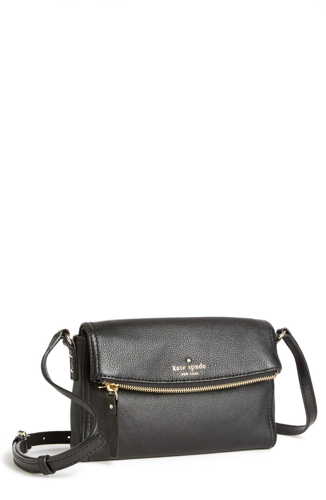 KATE SPADE NEW YORK 'cobble hill - mini carson' crossbody bag, Main, color, 001
