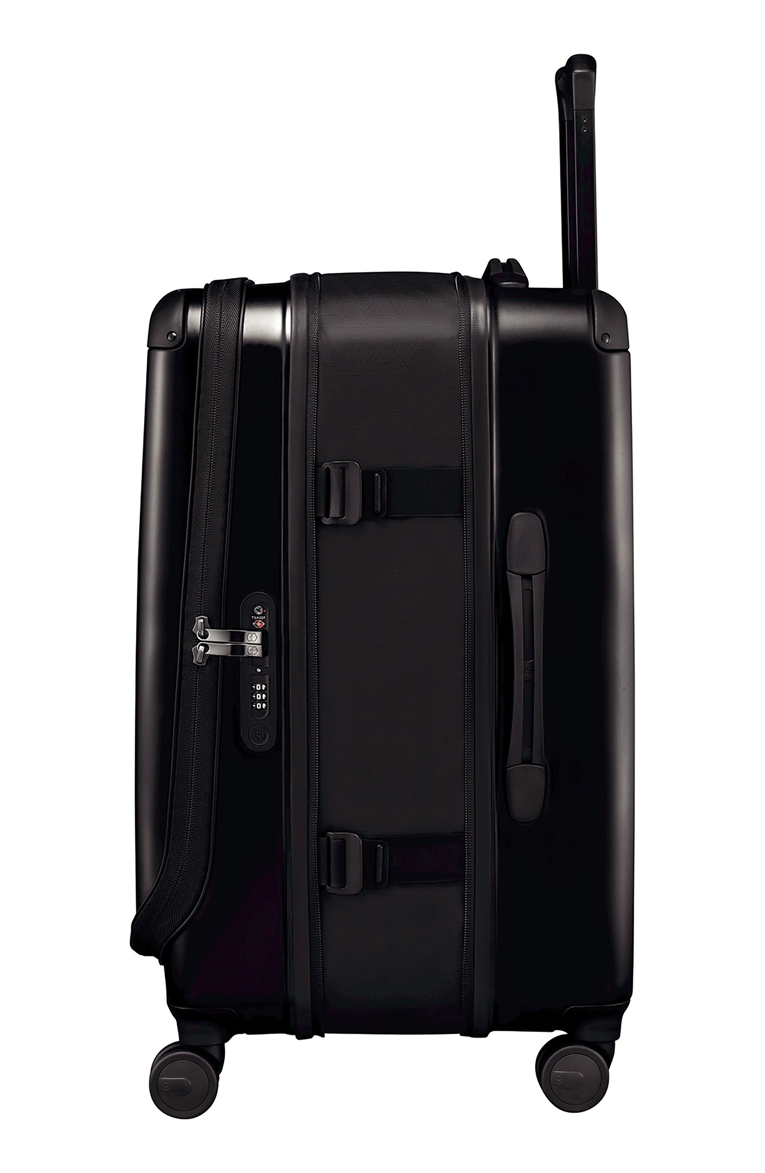 VICTORINOX SWISS ARMY<SUP>®</SUP>, Spectra 2.0 Hard Sided Rolling 27-Inch Travel Suitcase, Alternate thumbnail 4, color, BLACK