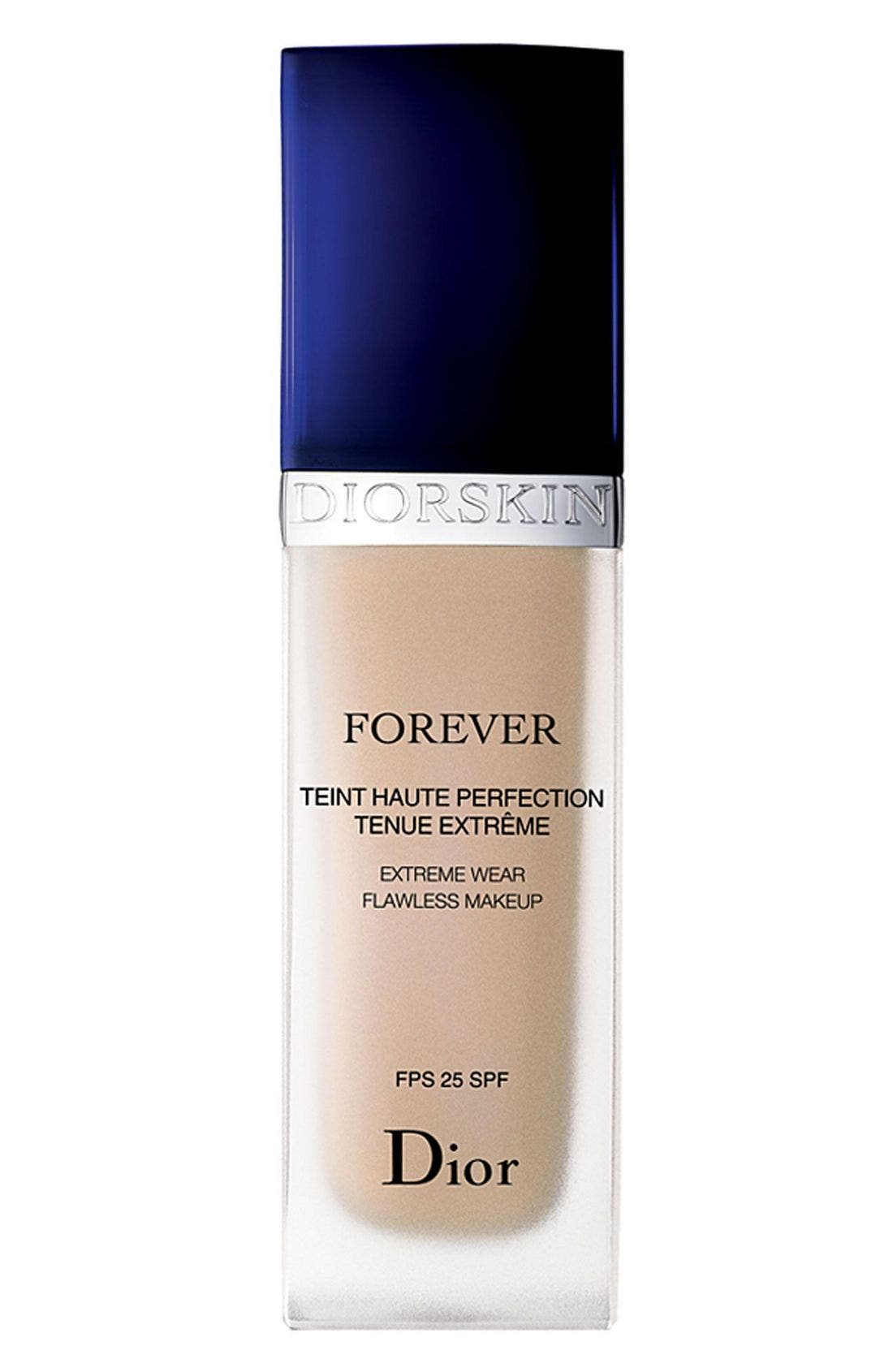 DIOR, 'Diorskin Forever' Extreme Wear Flawless Makeup SPF 25, Main thumbnail 1, color, 000