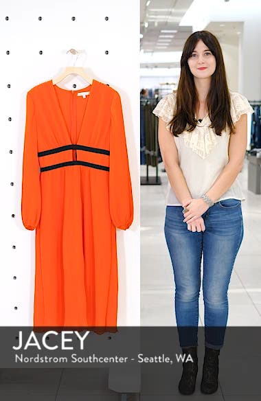 Patton Plunge Plissé Dress, sales video thumbnail