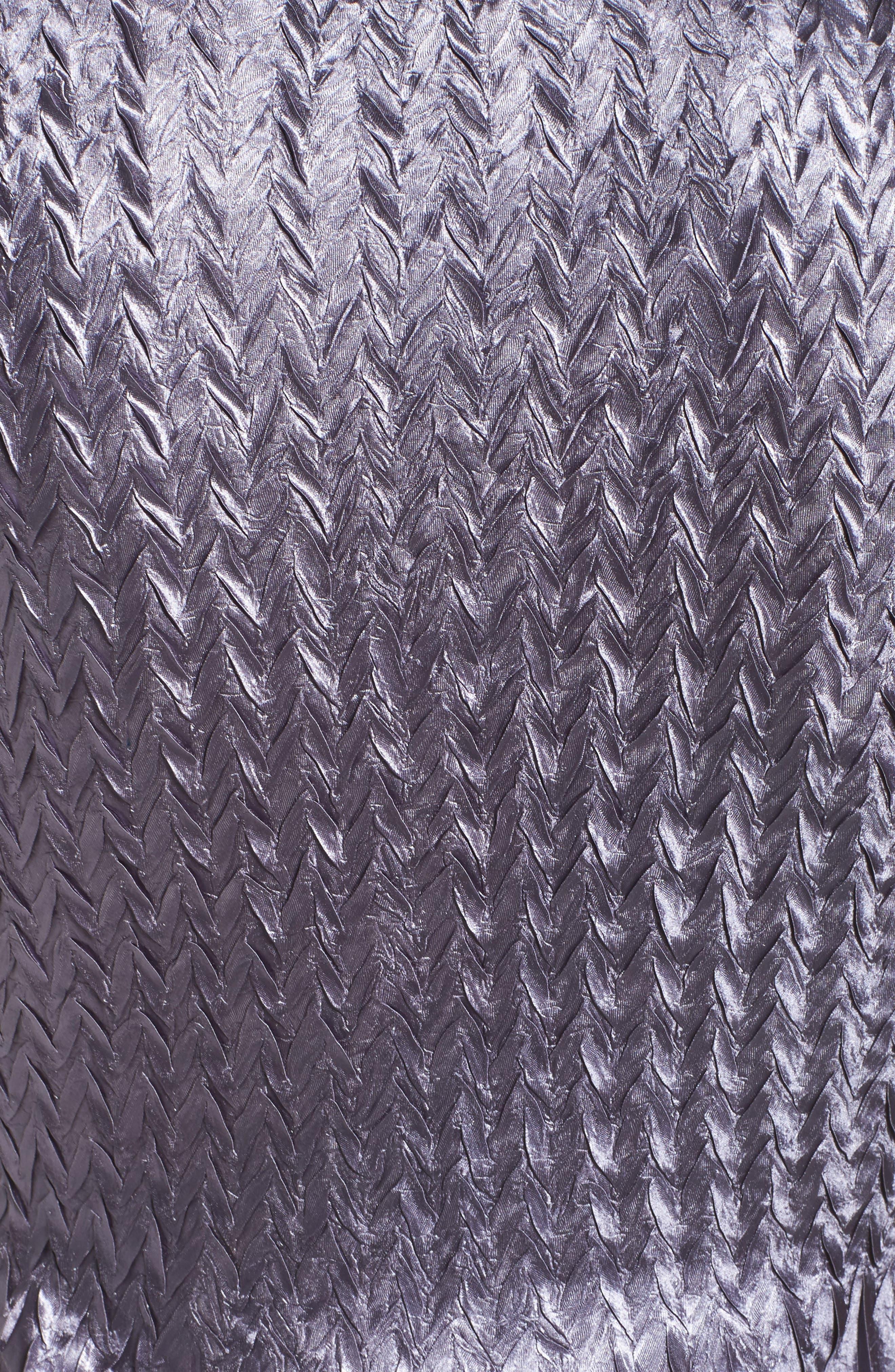 KOMAROV, Embellished Charmeuse Dress & Chiffon Jacket, Alternate thumbnail 6, color, 454