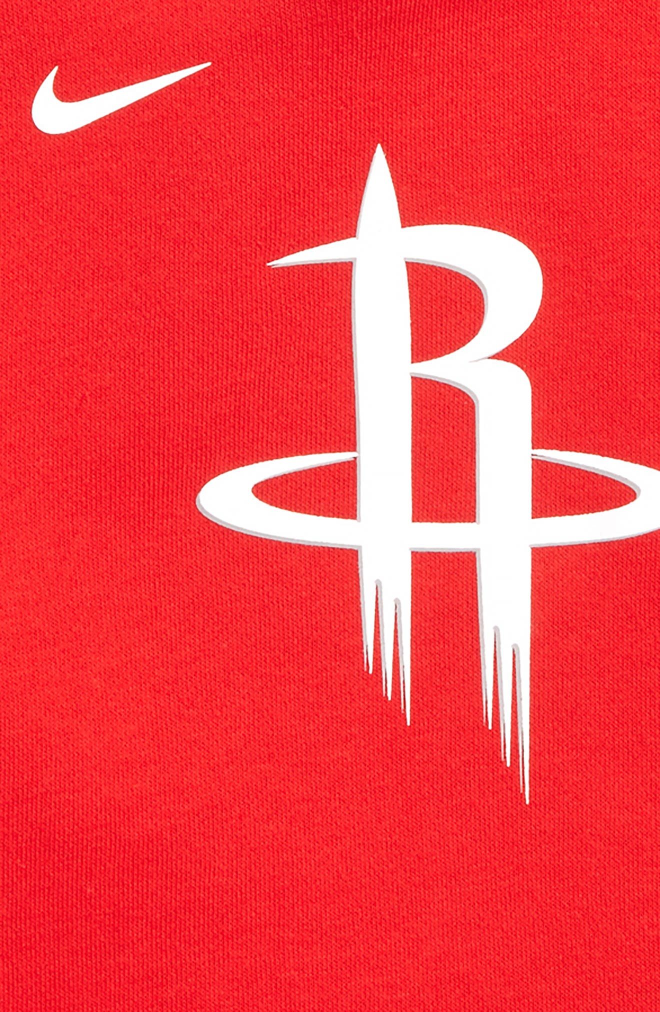 NIKE, Houston Rockets Hoodie, Alternate thumbnail 2, color, UNIVERSITY RED
