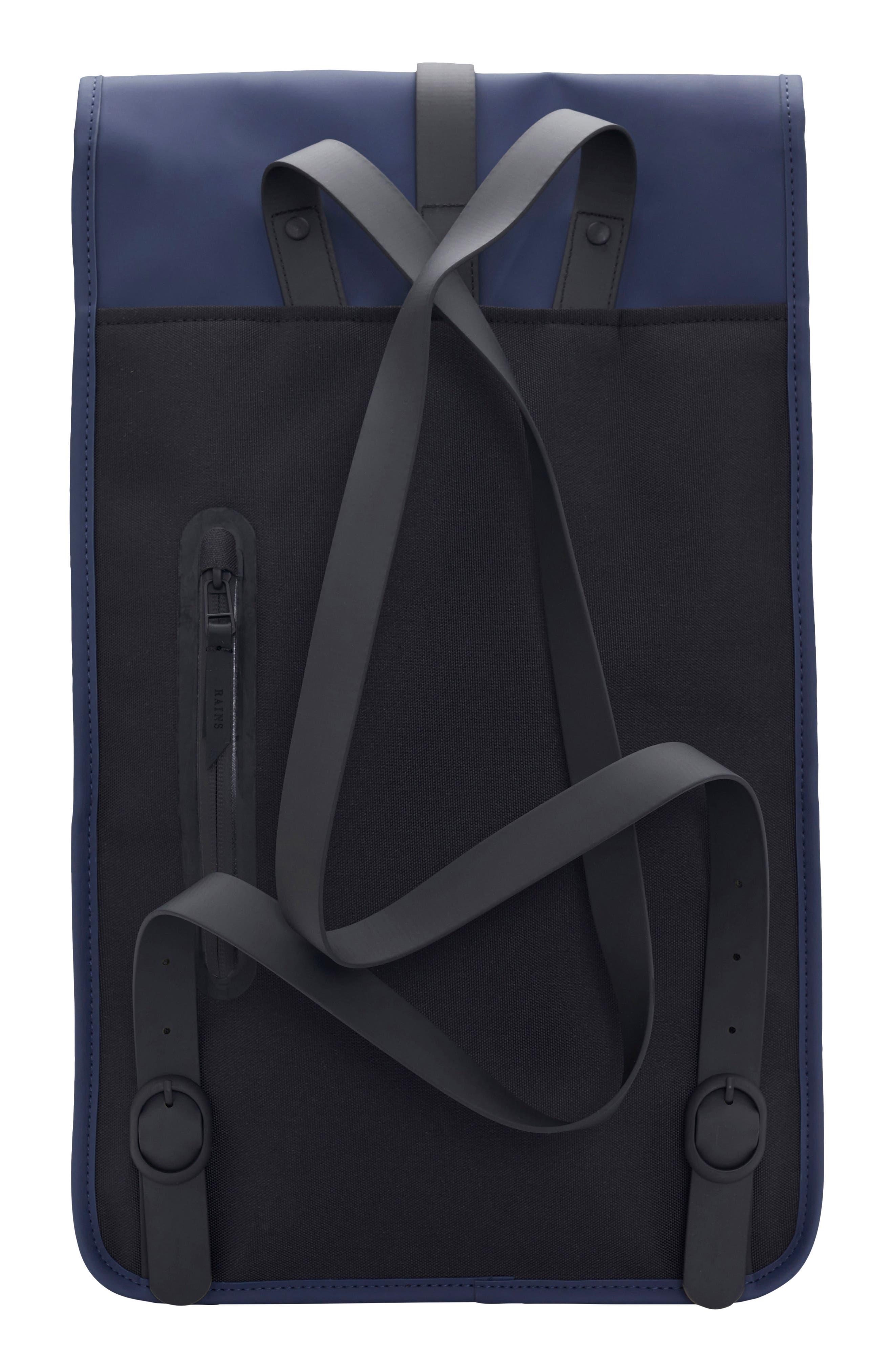 RAINS, Waterproof Backpack, Alternate thumbnail 4, color, BLUE