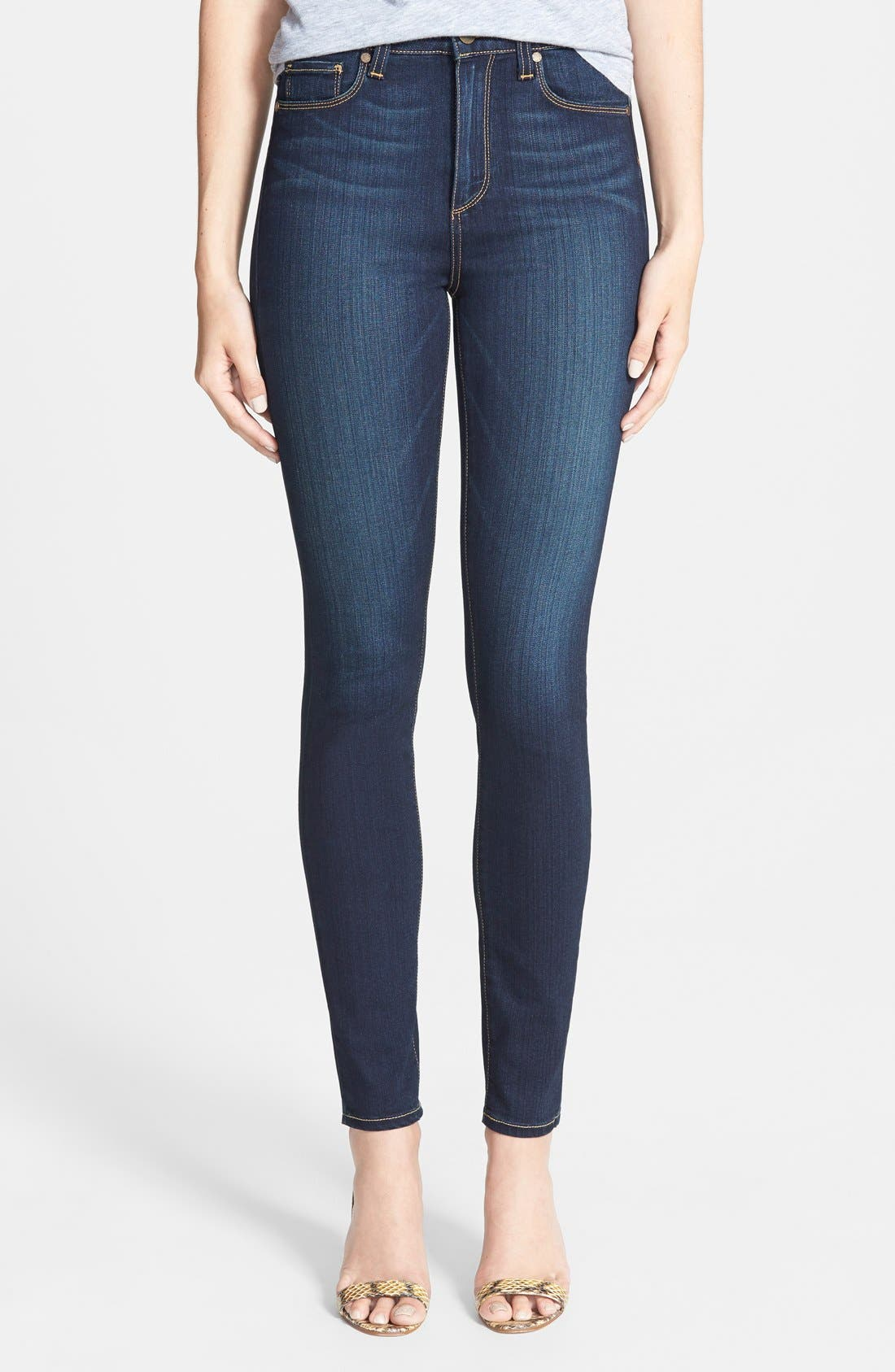 PAIGE, 'Transcend - Margot' High Rise Ultra Skinny Stretch Jeans, Main thumbnail 1, color, 400