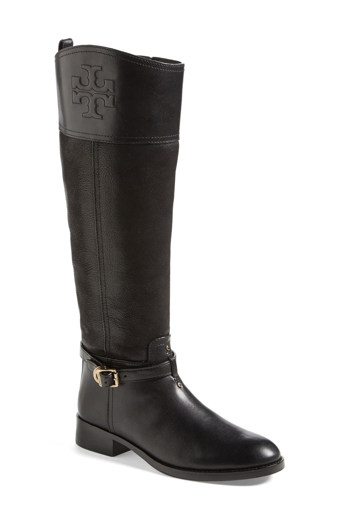 TORY BURCH, 'Simone' Riding Boot, Main thumbnail 1, color, 009