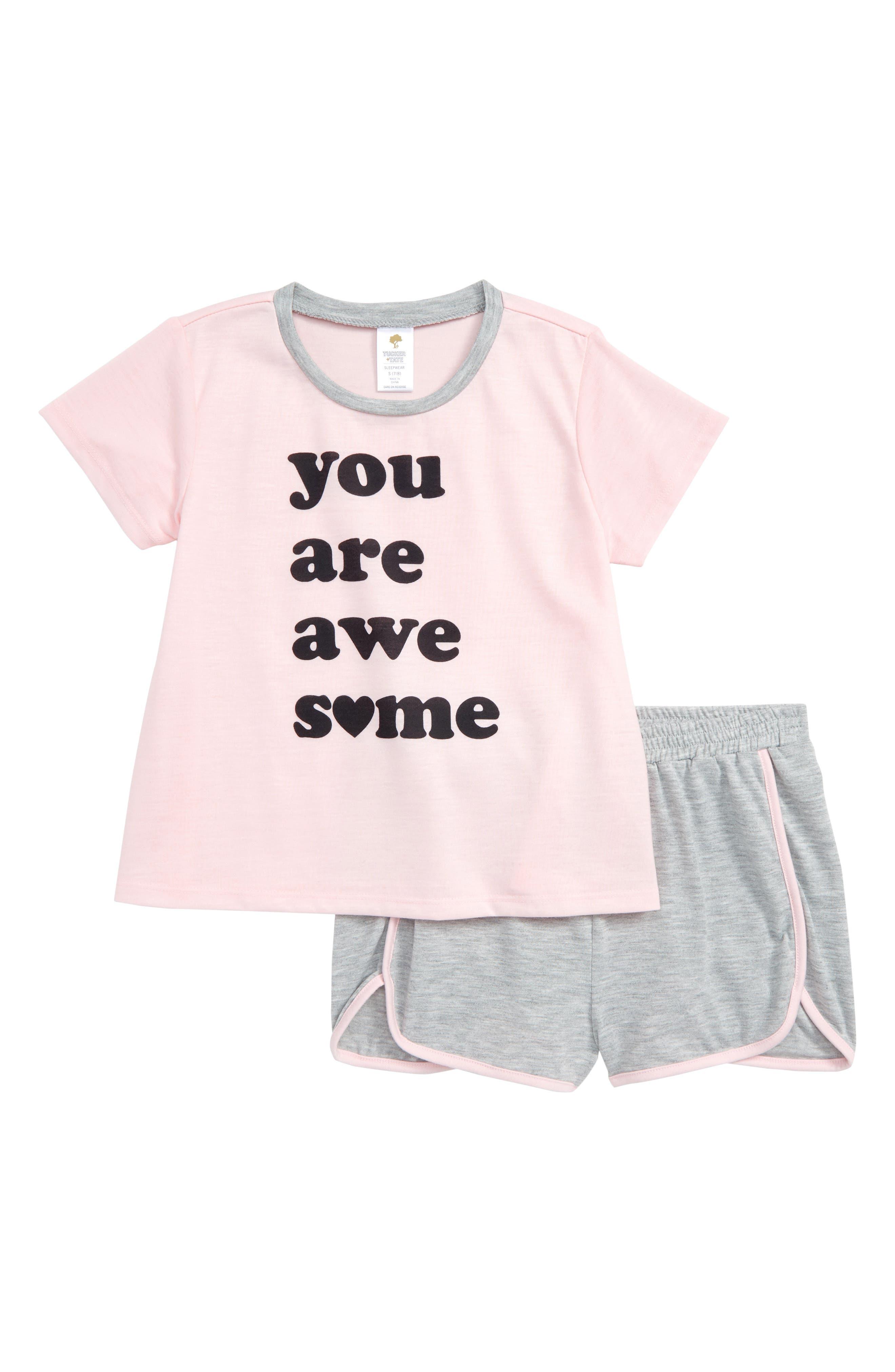 Girls Tucker  Tate TwoPiece Pajamas Size S (78)  Ivory