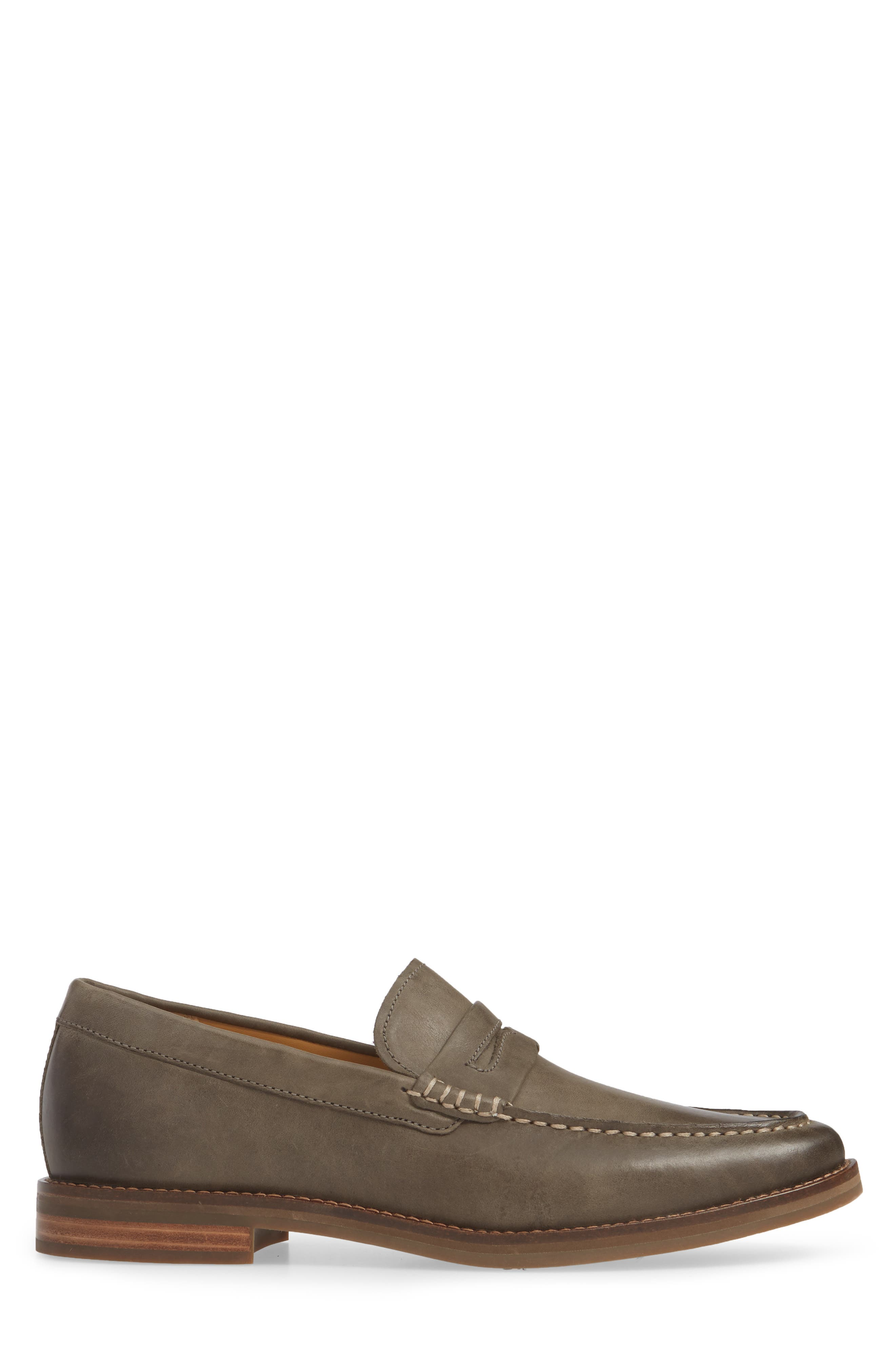 SPERRY, Exeter Penny Loafer, Alternate thumbnail 3, color, GREY