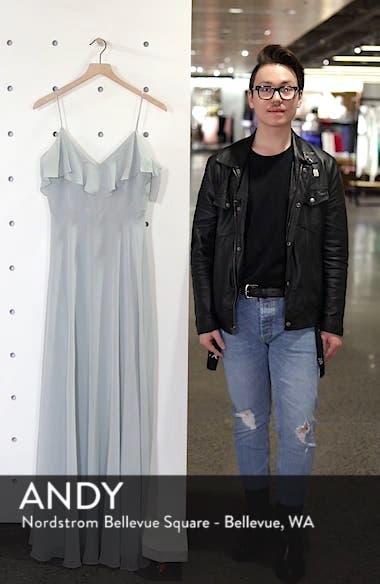 Cold Shoulder Chiffon Gown, sales video thumbnail