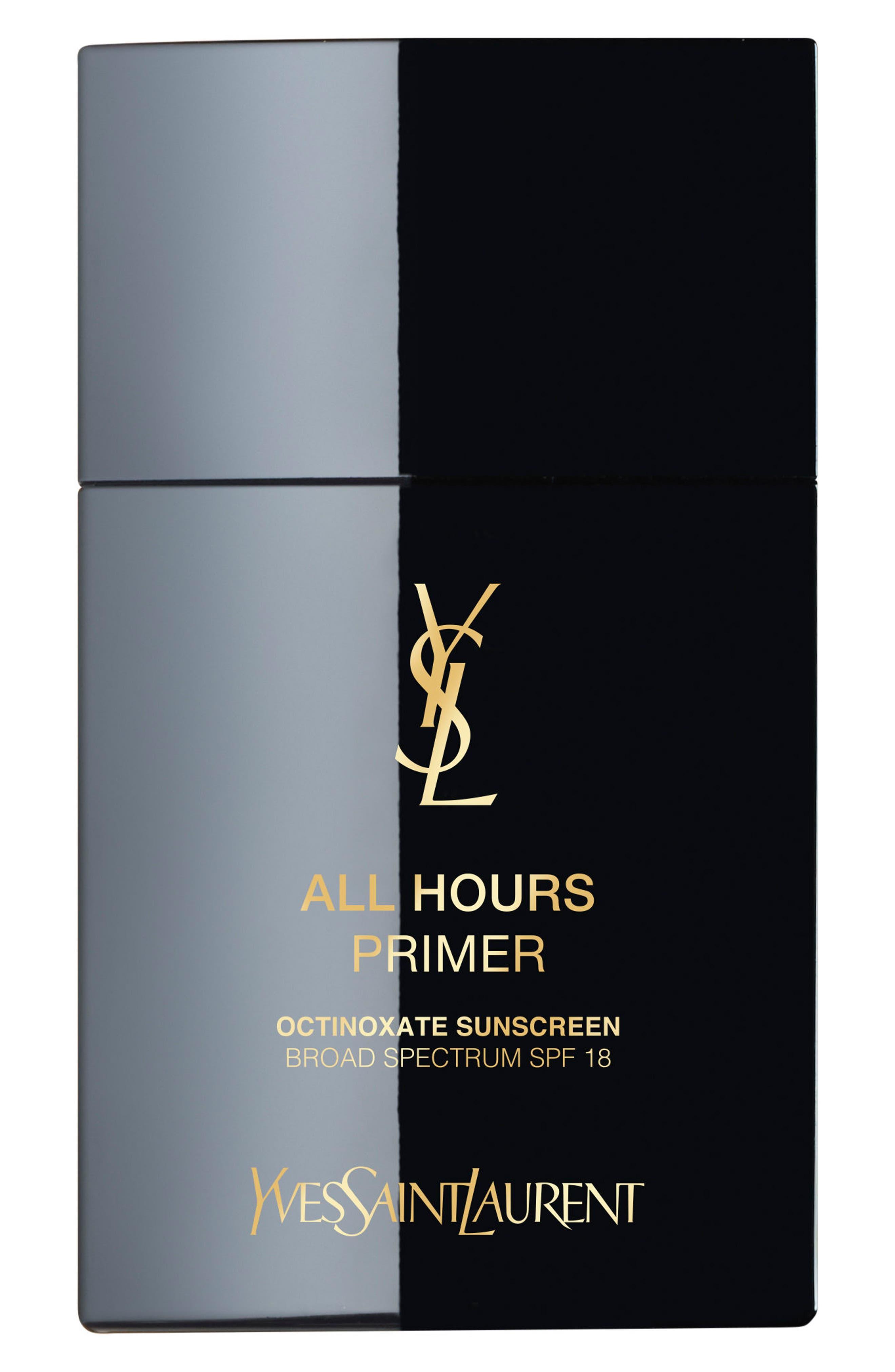 YVES SAINT LAURENT All Hours Primer SPF 18, Main, color, NO COLOR