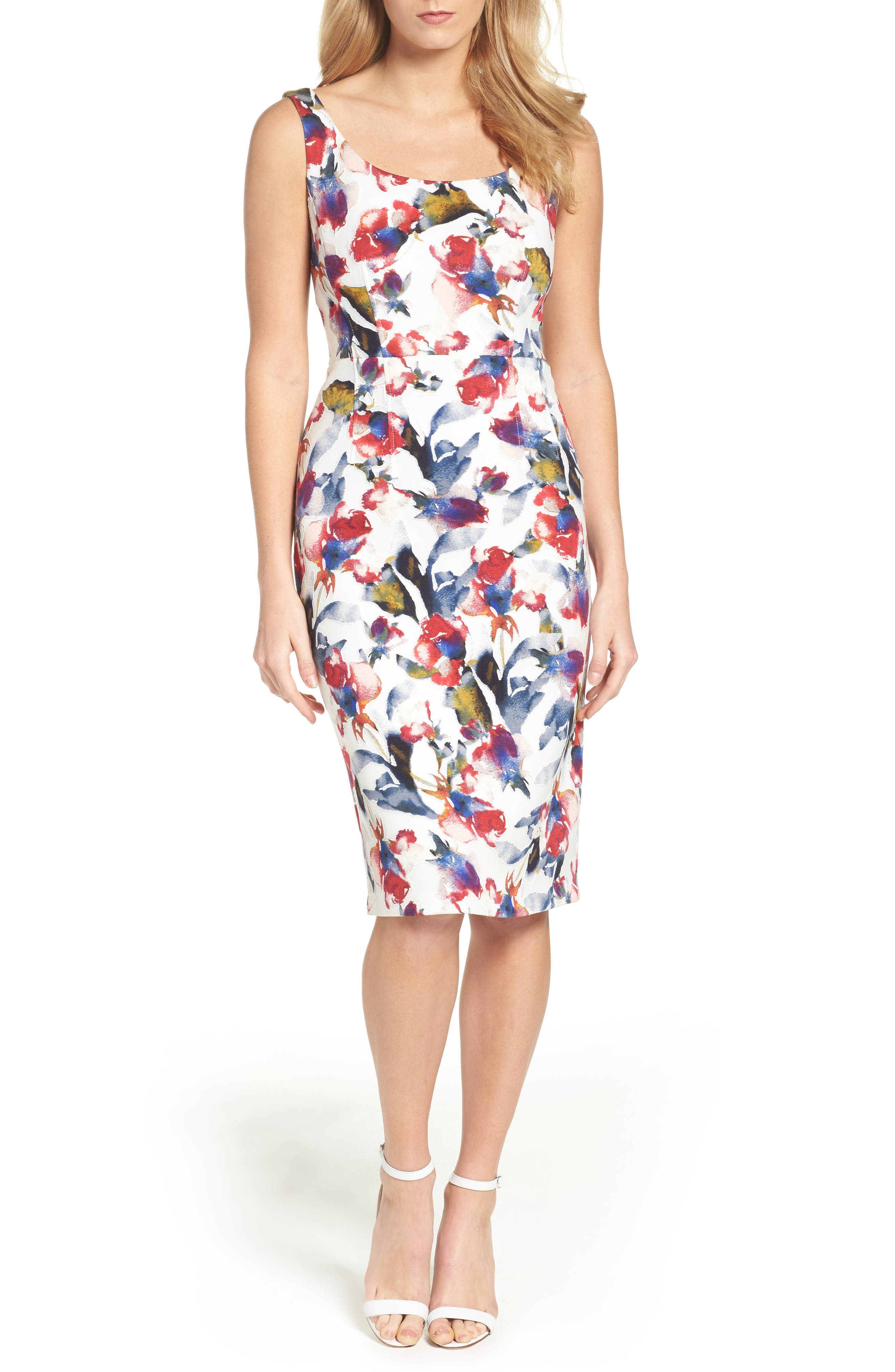 MAGGY LONDON, Tea Rose Dress, Alternate thumbnail 5, color, 145