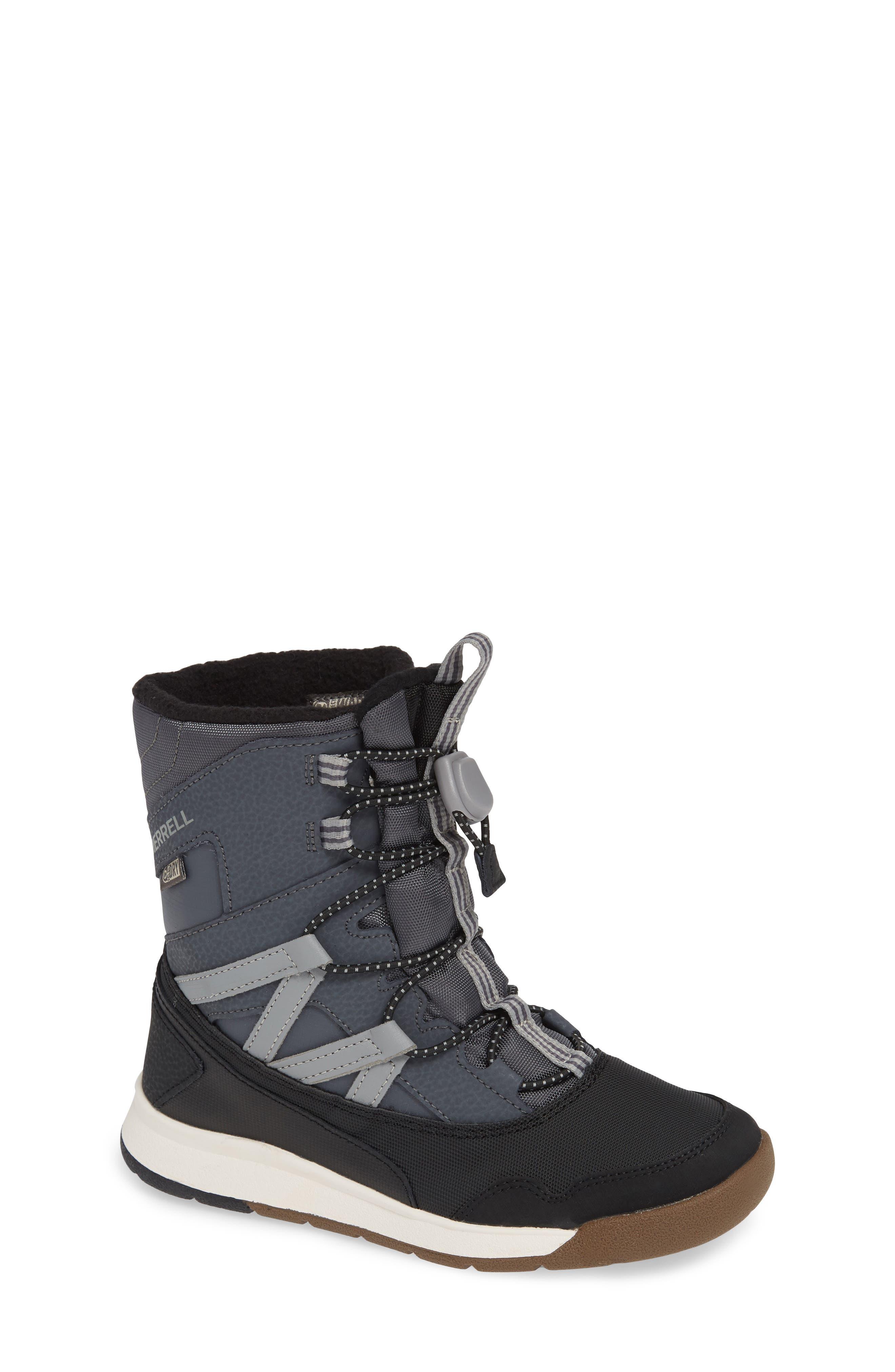 MERRELL, Snow Crush Waterproof Snow Boot, Main thumbnail 1, color, 020