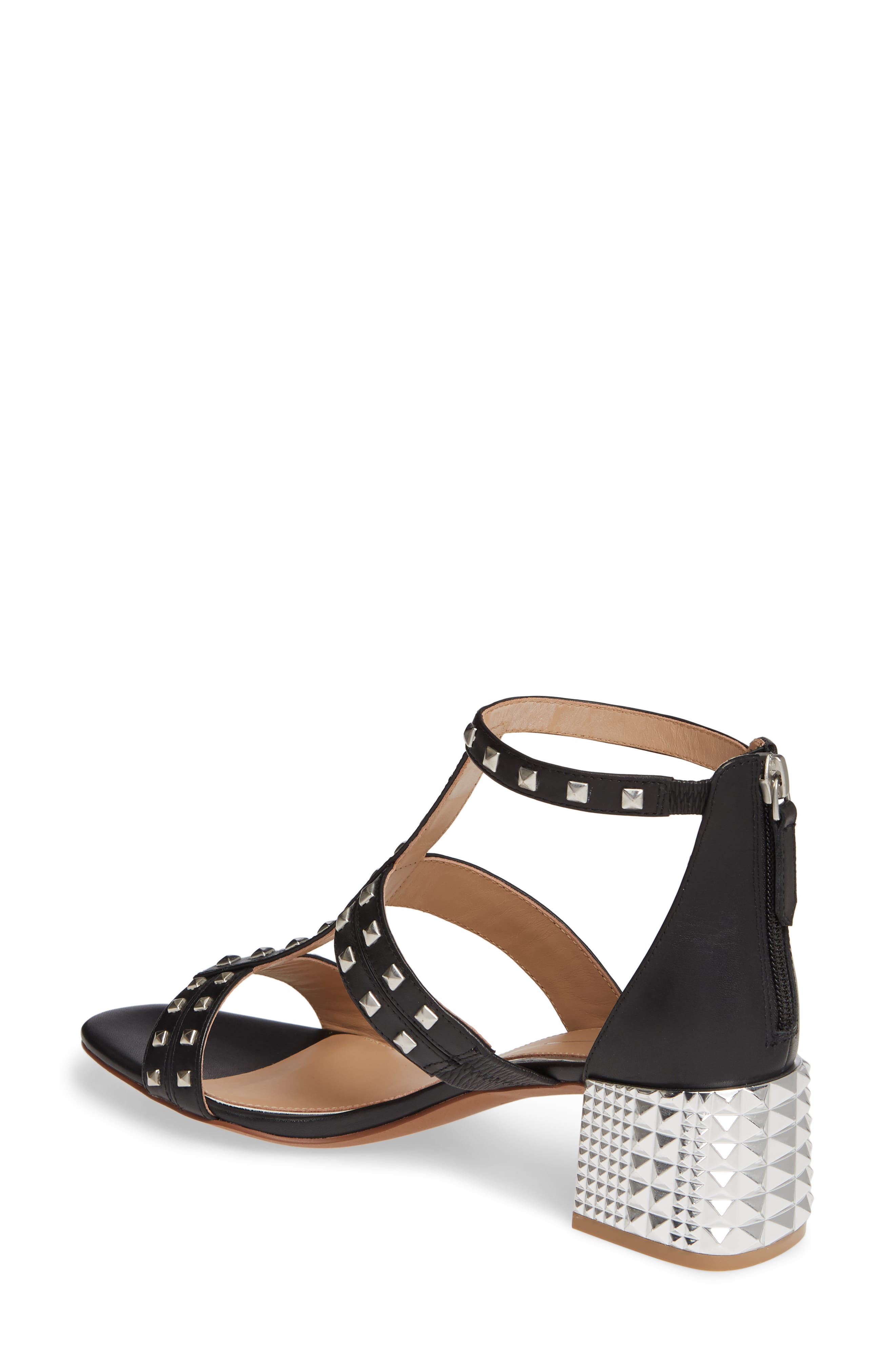 LINEA PAOLO, Harley Sandal, Alternate thumbnail 2, color, BLACK LEATHER