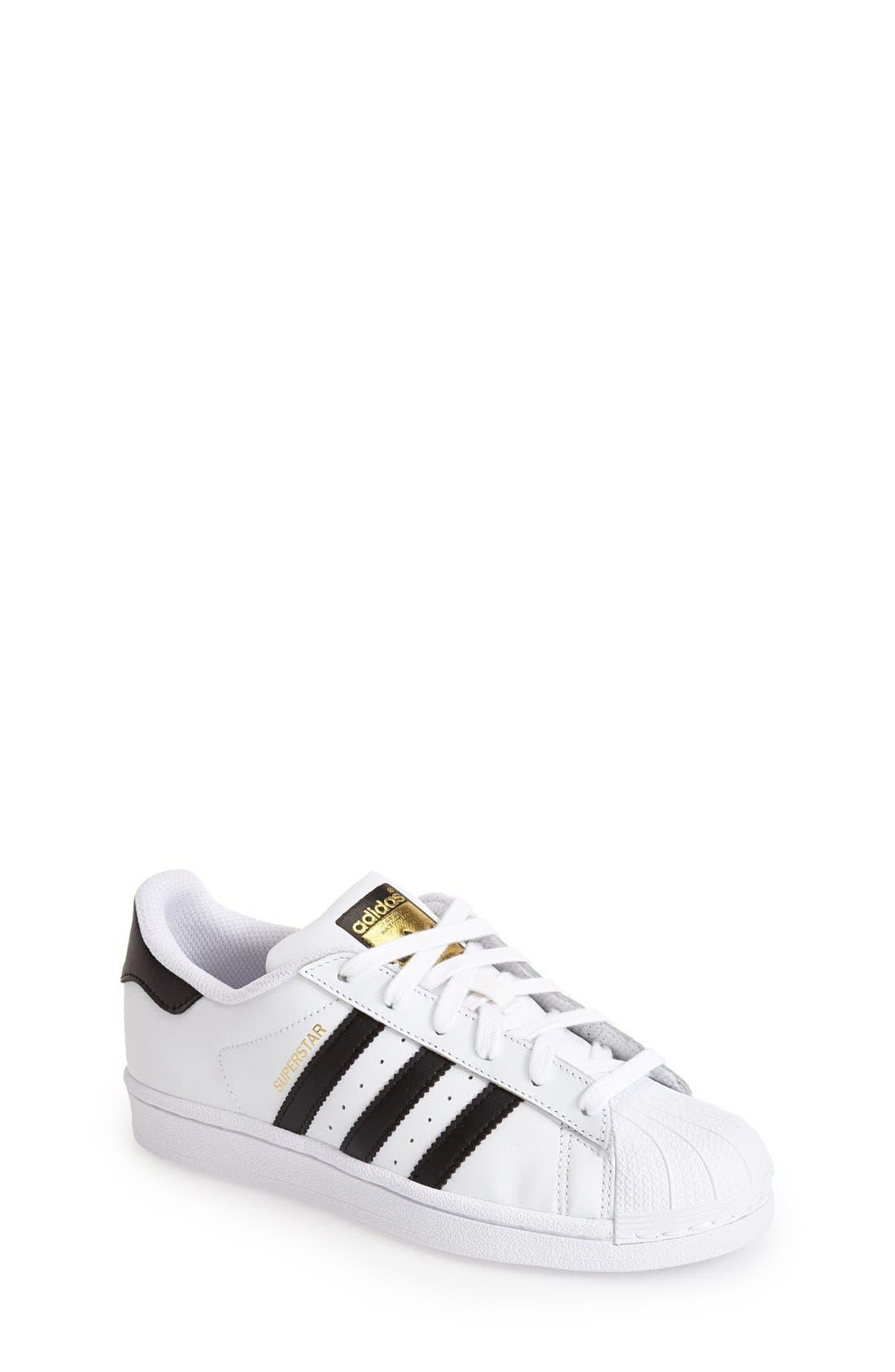 ADIDAS, 'Superstar II' Sneaker, Main thumbnail 1, color, WHITE/ BLACK/ WHITE