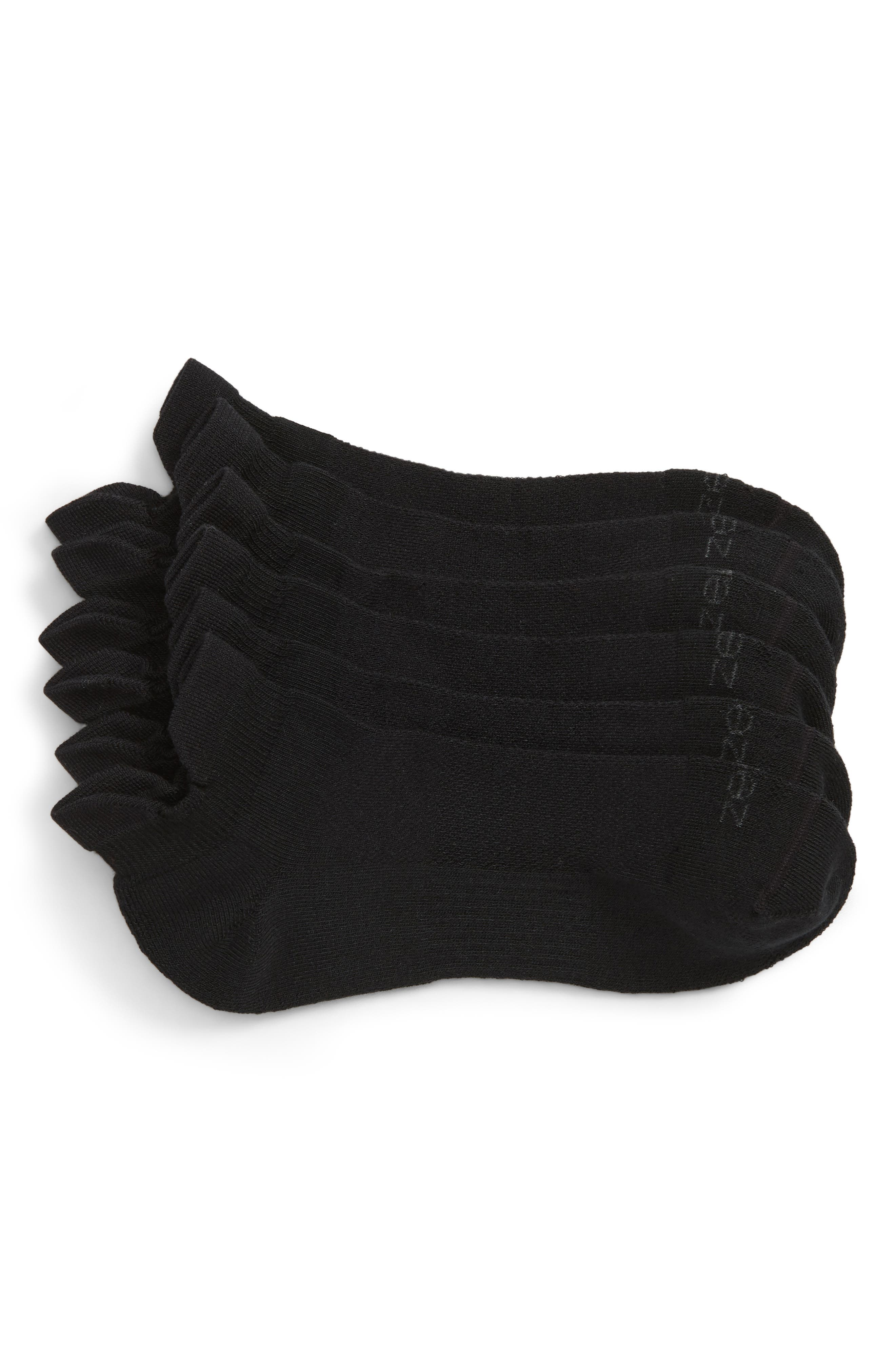 ZELLA, 3-Pack Double Tab Running Socks, Main thumbnail 1, color, BLACK