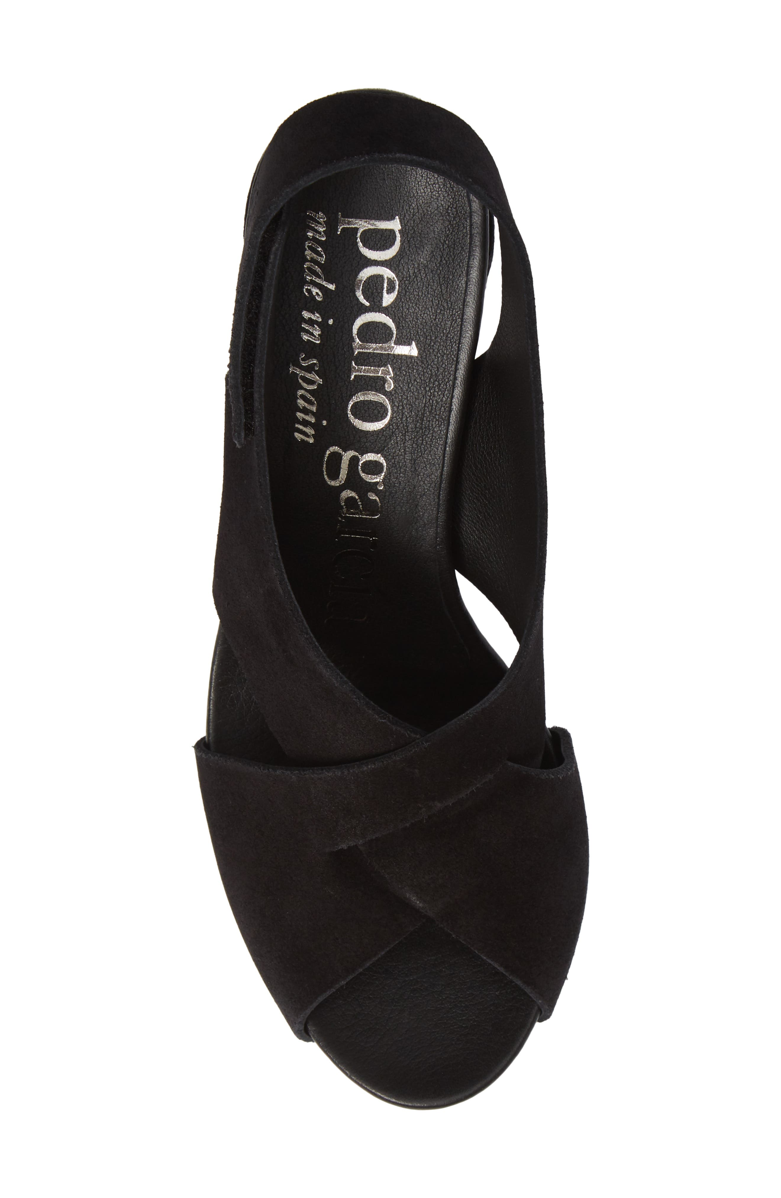 PEDRO GARCIA, Wiela Slingback Sandal, Alternate thumbnail 5, color, BLACK CASTORO