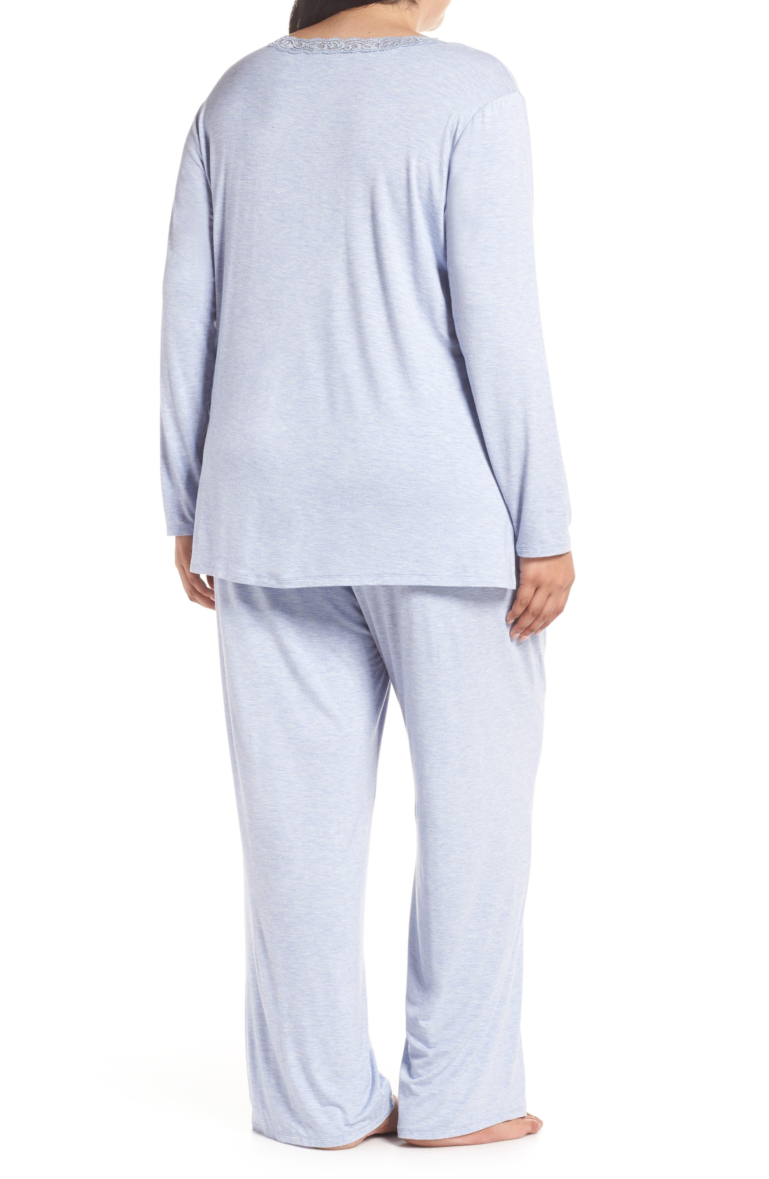 NATORI, Feathers Pajamas, Alternate thumbnail 2, color, 470