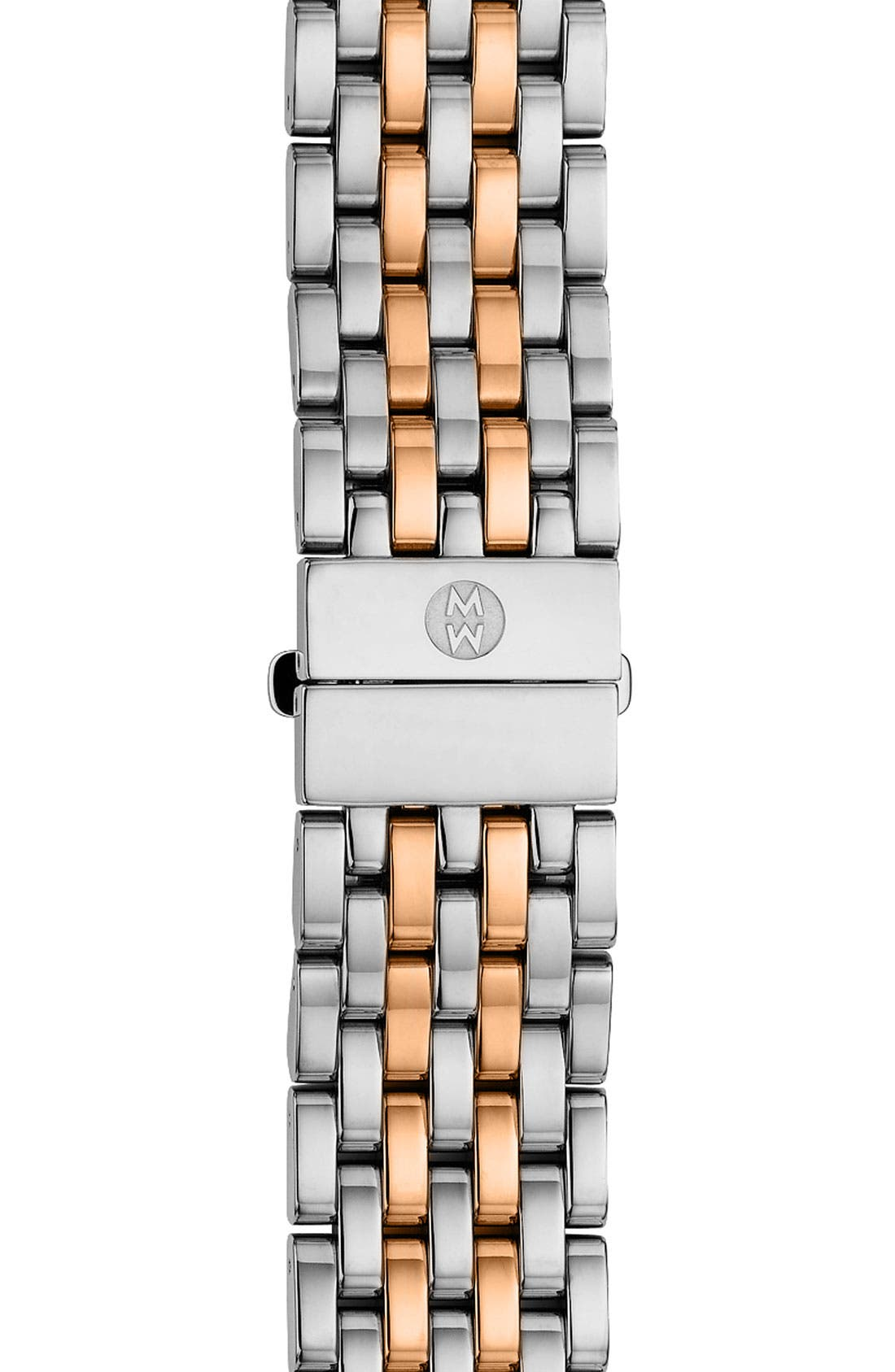 MICHELE 'Serein' 18mm Watch Bracelet Band, Main, color, GOLD/ SILVER