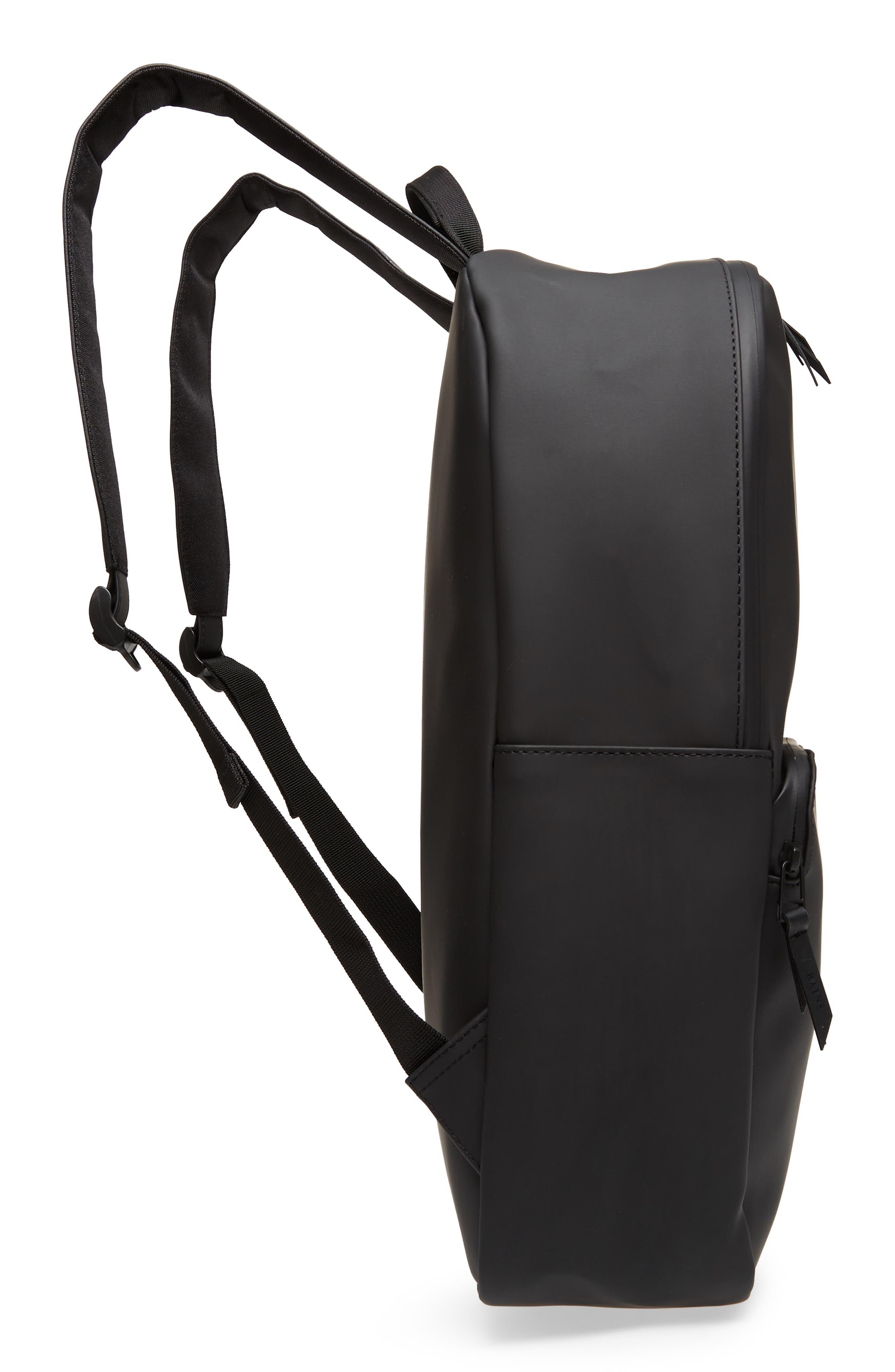 RAINS, Field Backpack, Alternate thumbnail 6, color, BLACK