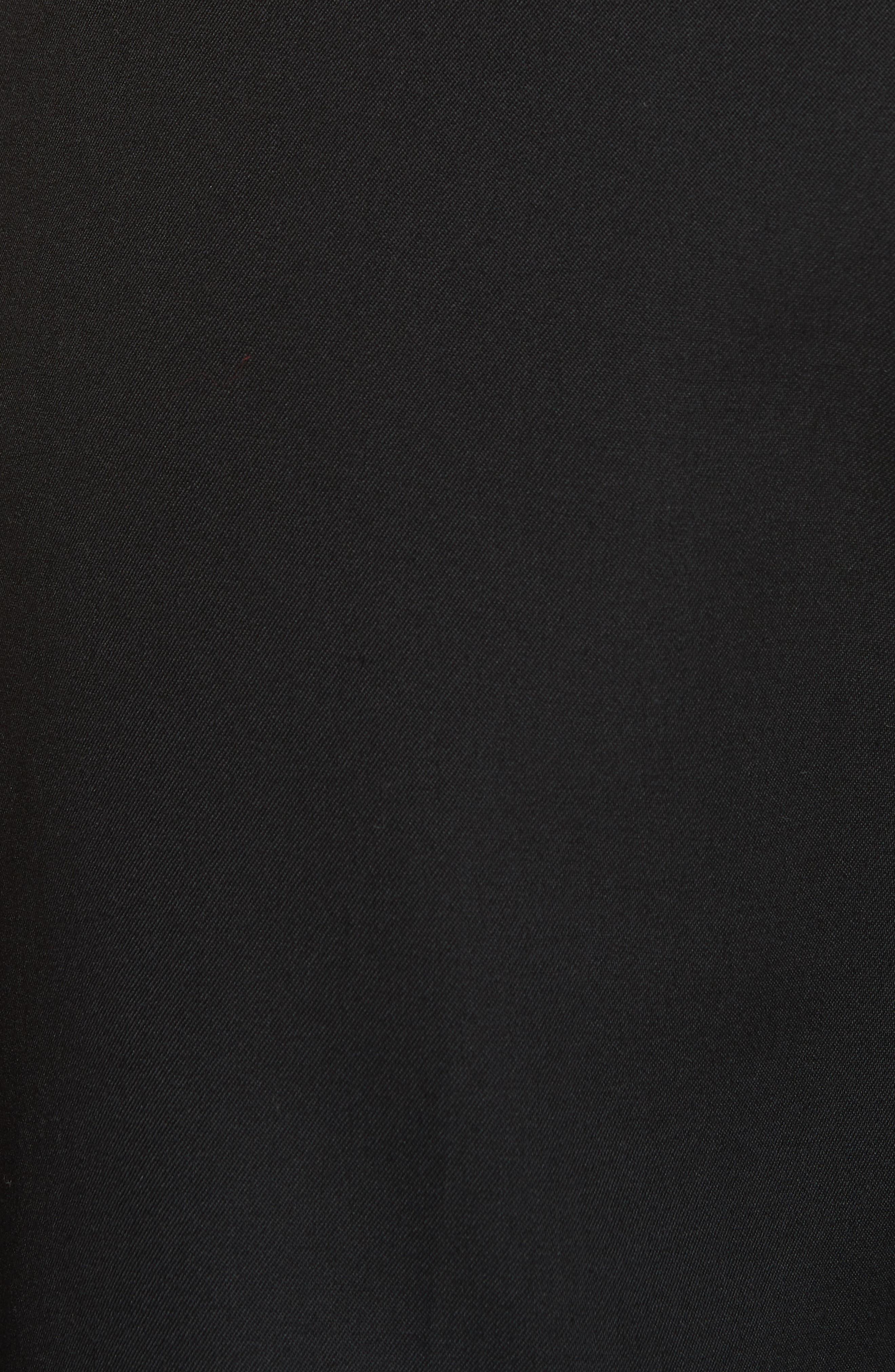 CALVIN KLEIN 205W39NYC, Wool Gabardine Pants, Alternate thumbnail 5, color, BLACK