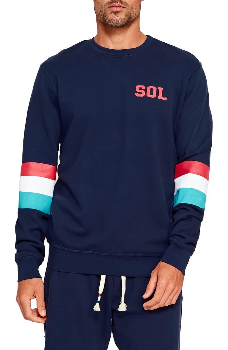 Sol Angeles T-shirts SOL STRIPE SWEATSHIRT