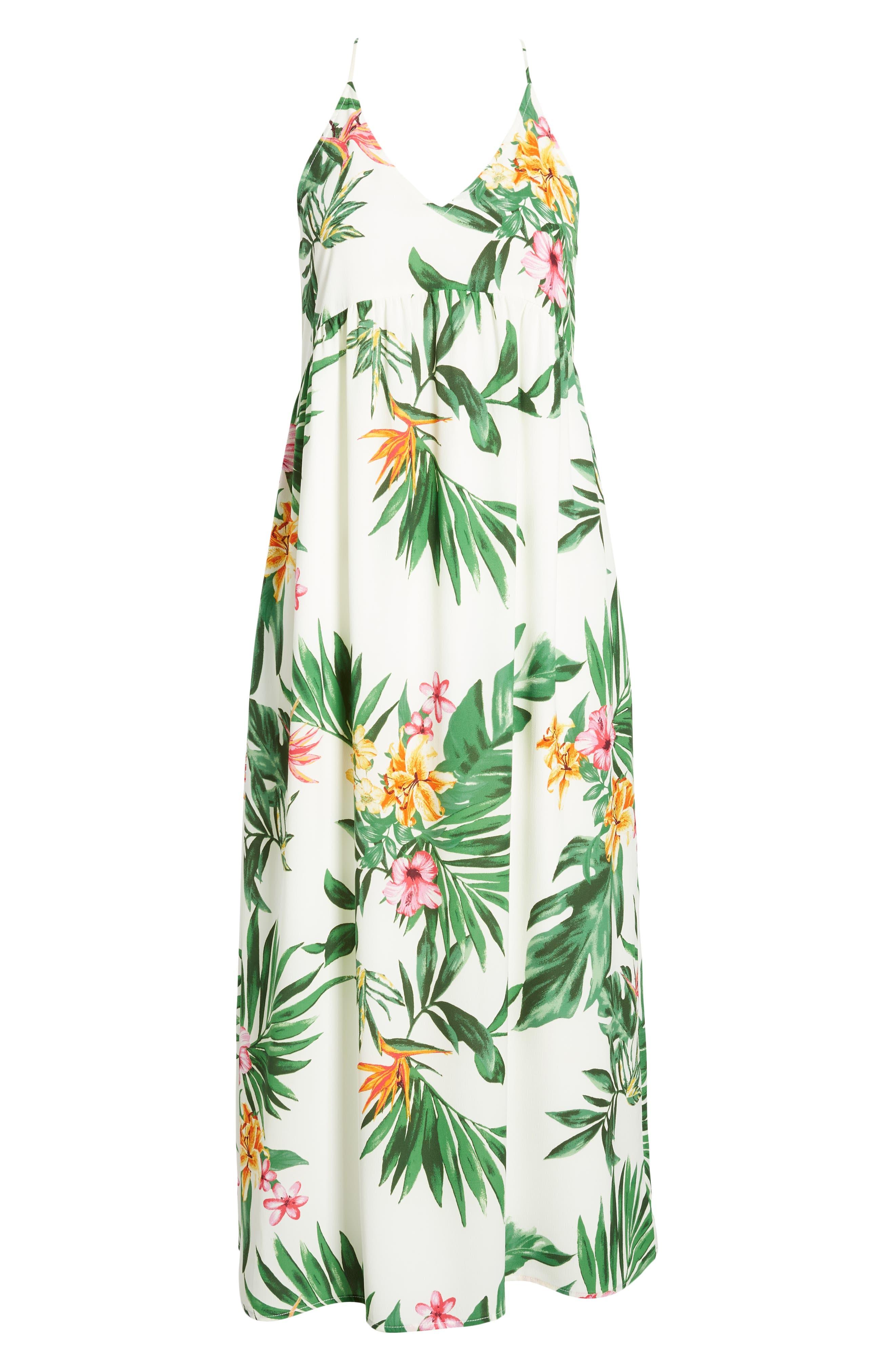 GIBSON, x Hi Sugarplum! Palm Springs Festival Maxi Dress, Alternate thumbnail 6, color, BIRD OF PARADISE