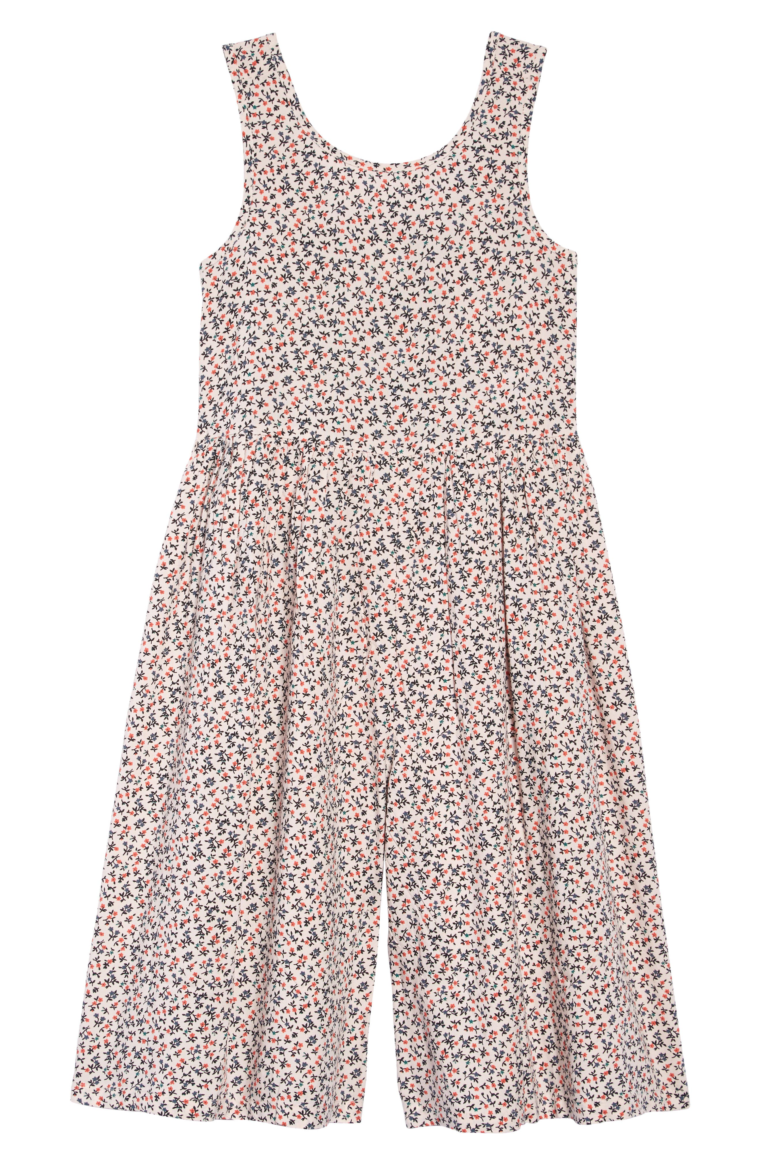 TUCKER + TATE, Print Romper, Main thumbnail 1, color, PINK AMOUR SCATTERED DAISY