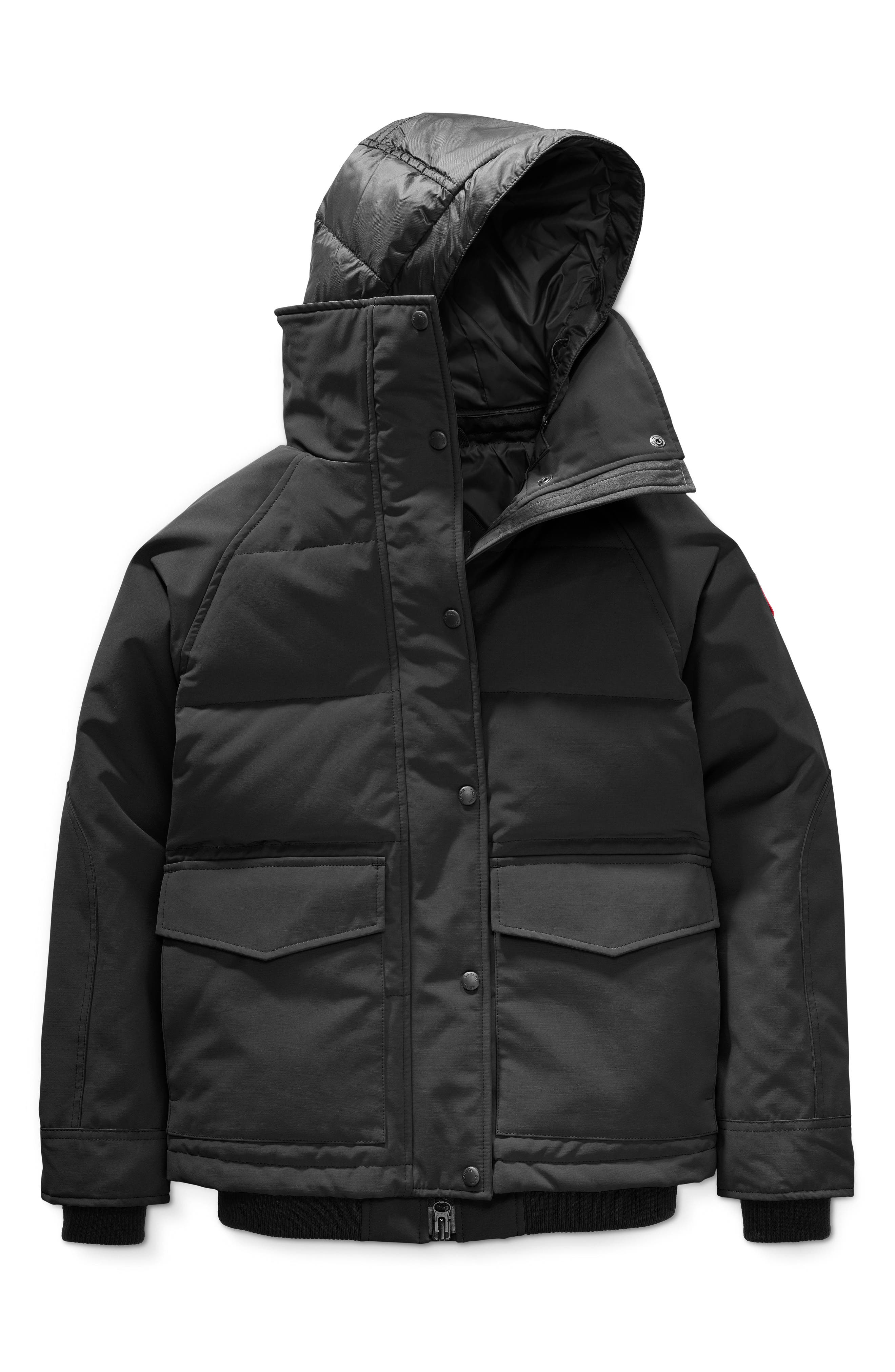 CANADA GOOSE, Deep Cove Arctic Tech Water Resistant 625 Fill Power Down Bomber Jacket, Alternate thumbnail 5, color, BLACK