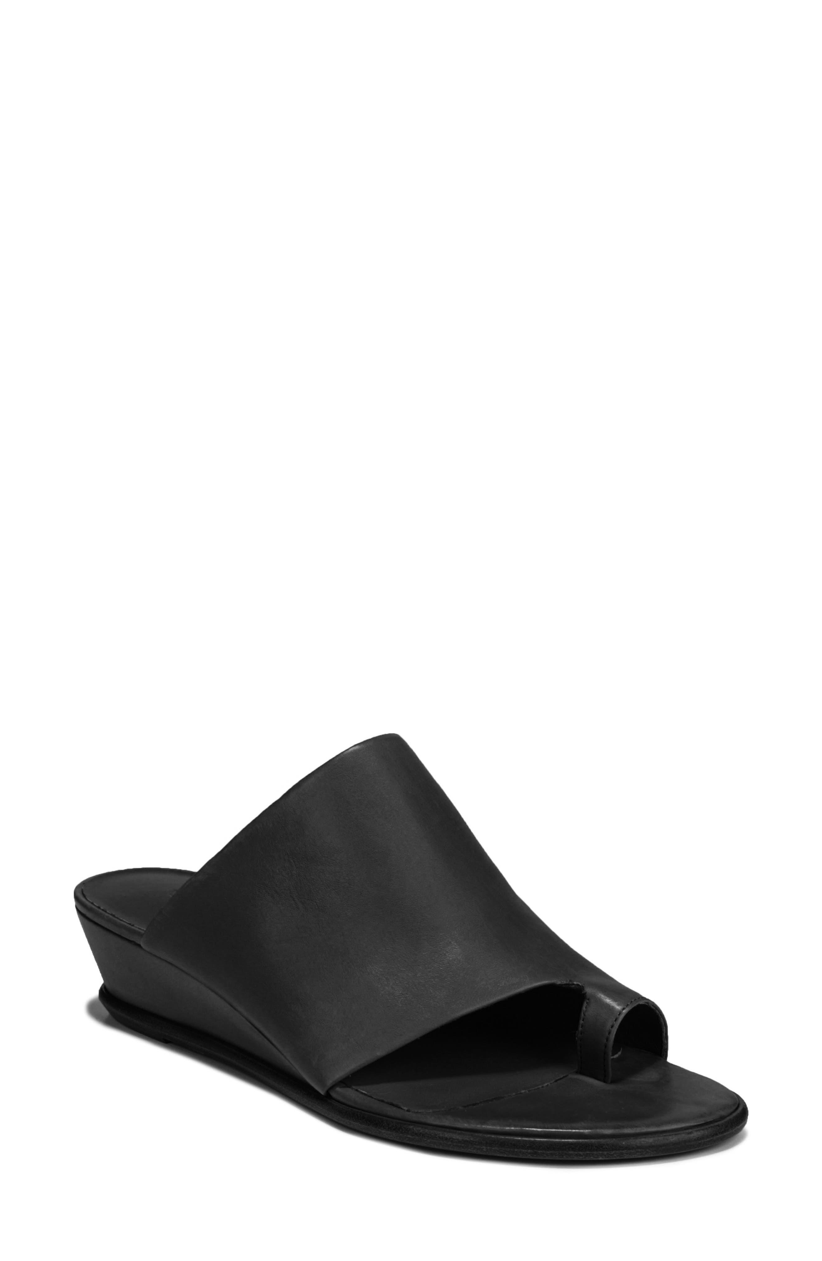 VINCE, Darla Slide Sandal, Main thumbnail 1, color, BLACK