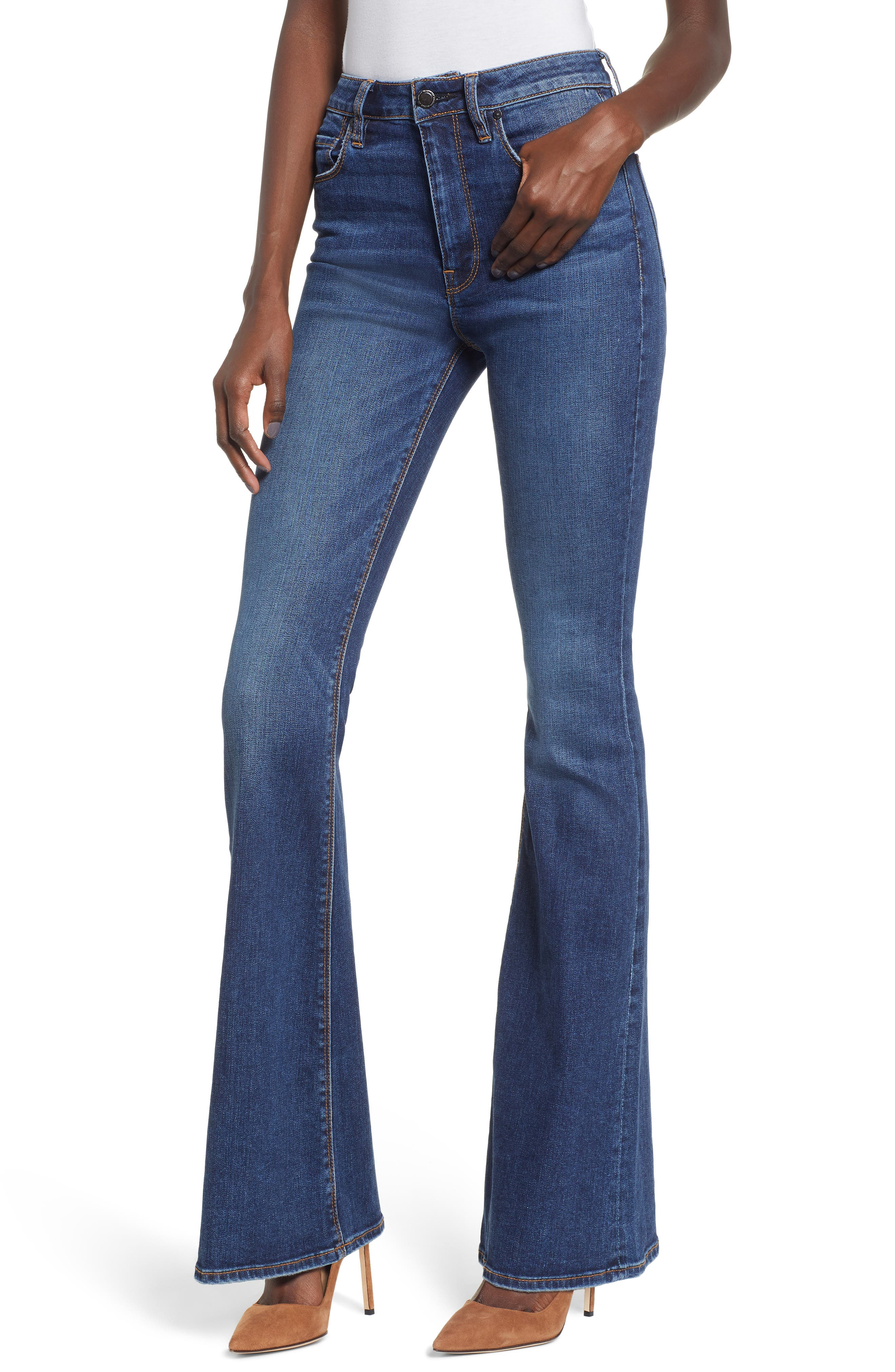 HUDSON JEANS Holly High Waist Flare Jeans, Main, color, VAGABOND