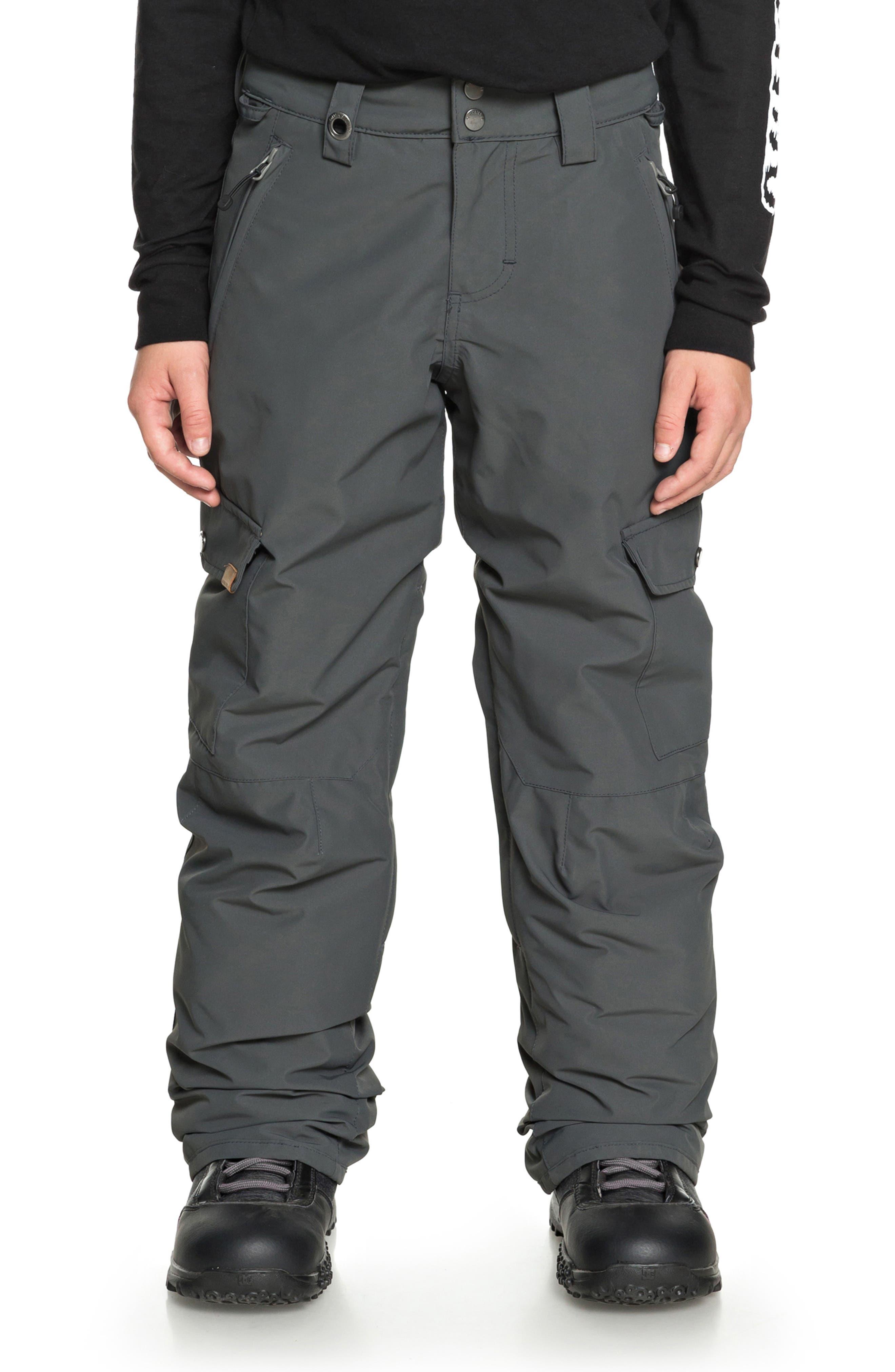 Boys Quiksilver Porter Snow Pants Size L (14)  Grey